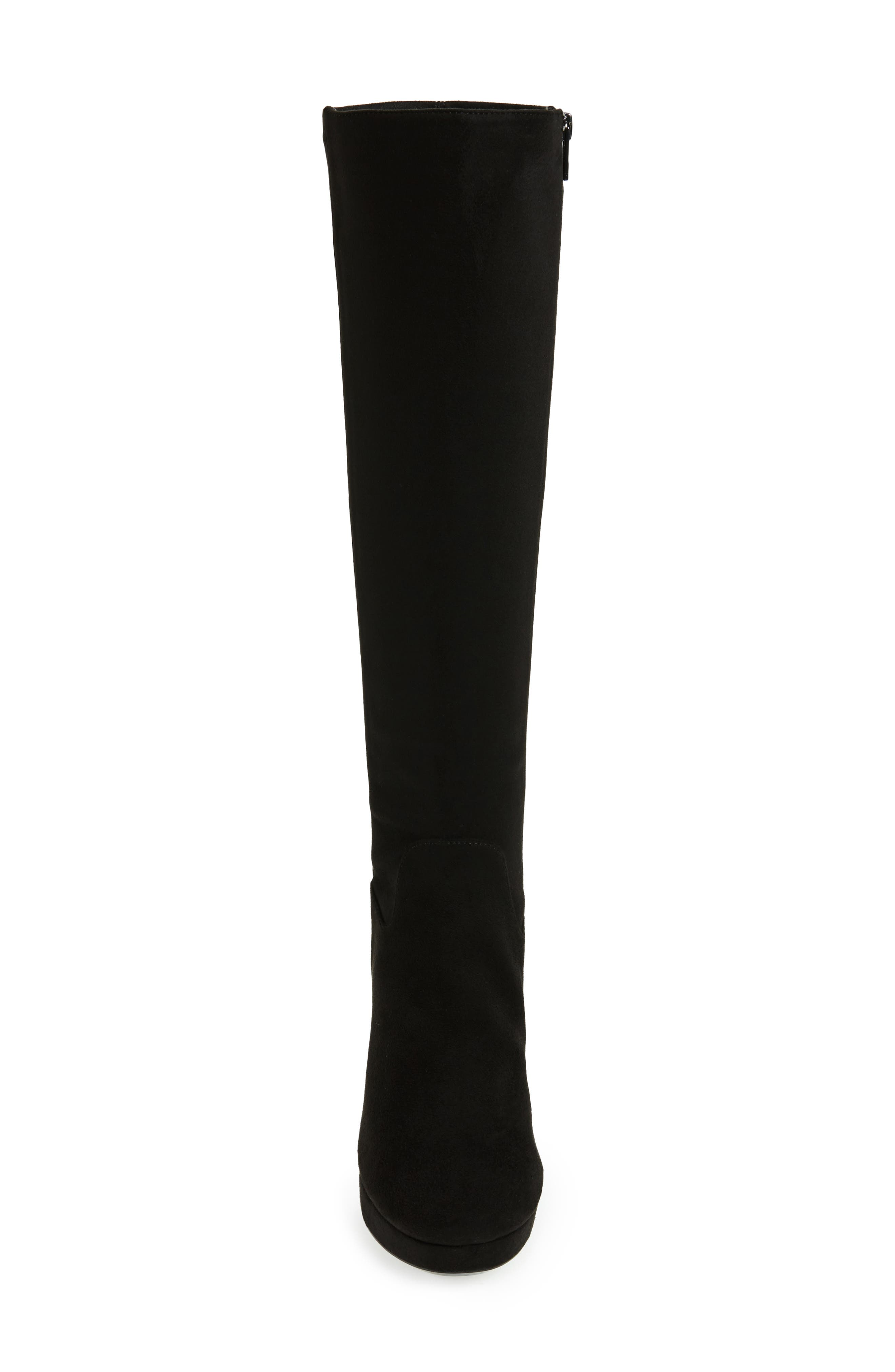 Mailia Tall Boot,                             Alternate thumbnail 4, color,                             Black Suede