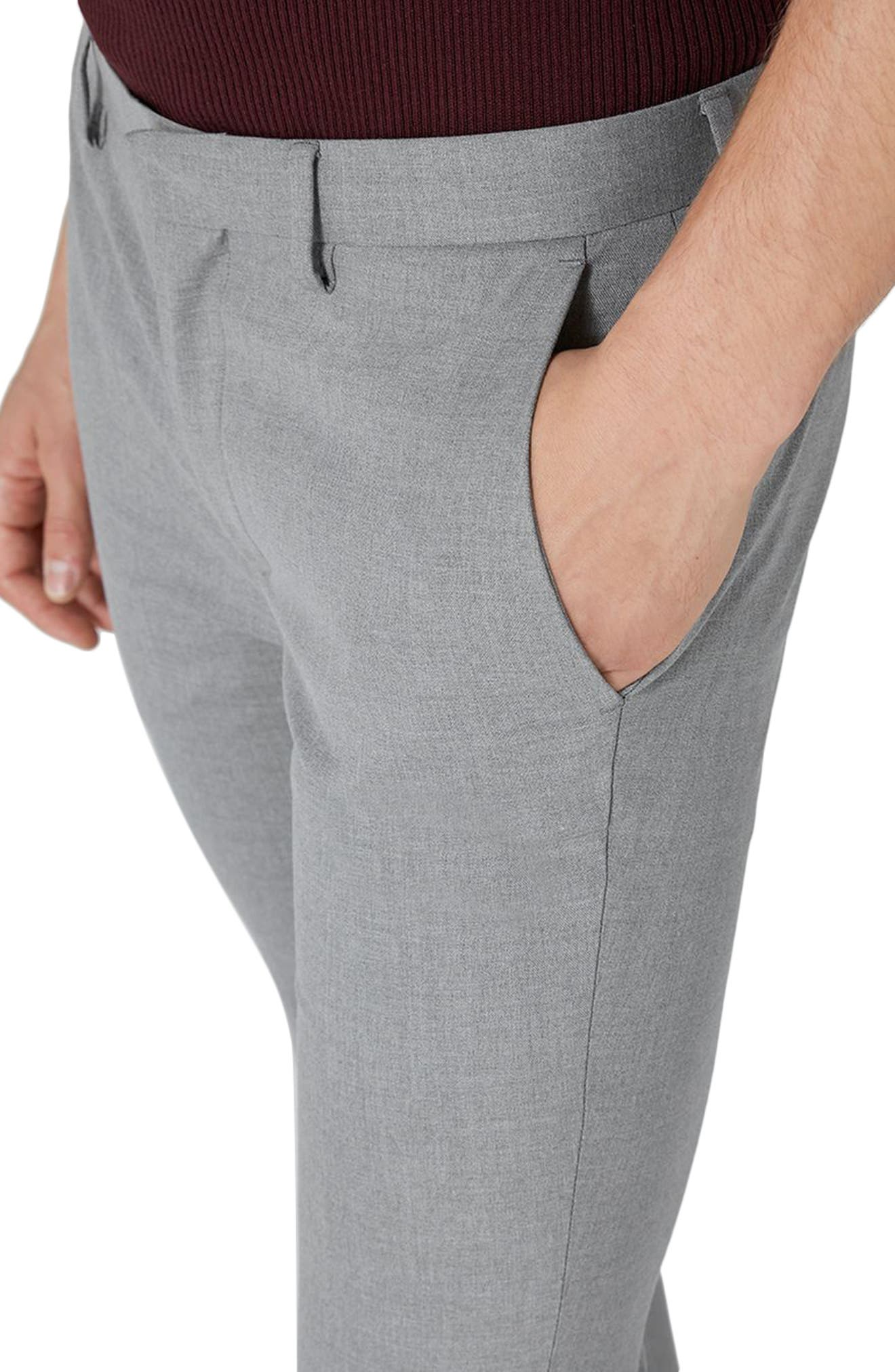 Ultra Skinny Fit Smart Trousers,                             Alternate thumbnail 3, color,                             Grey
