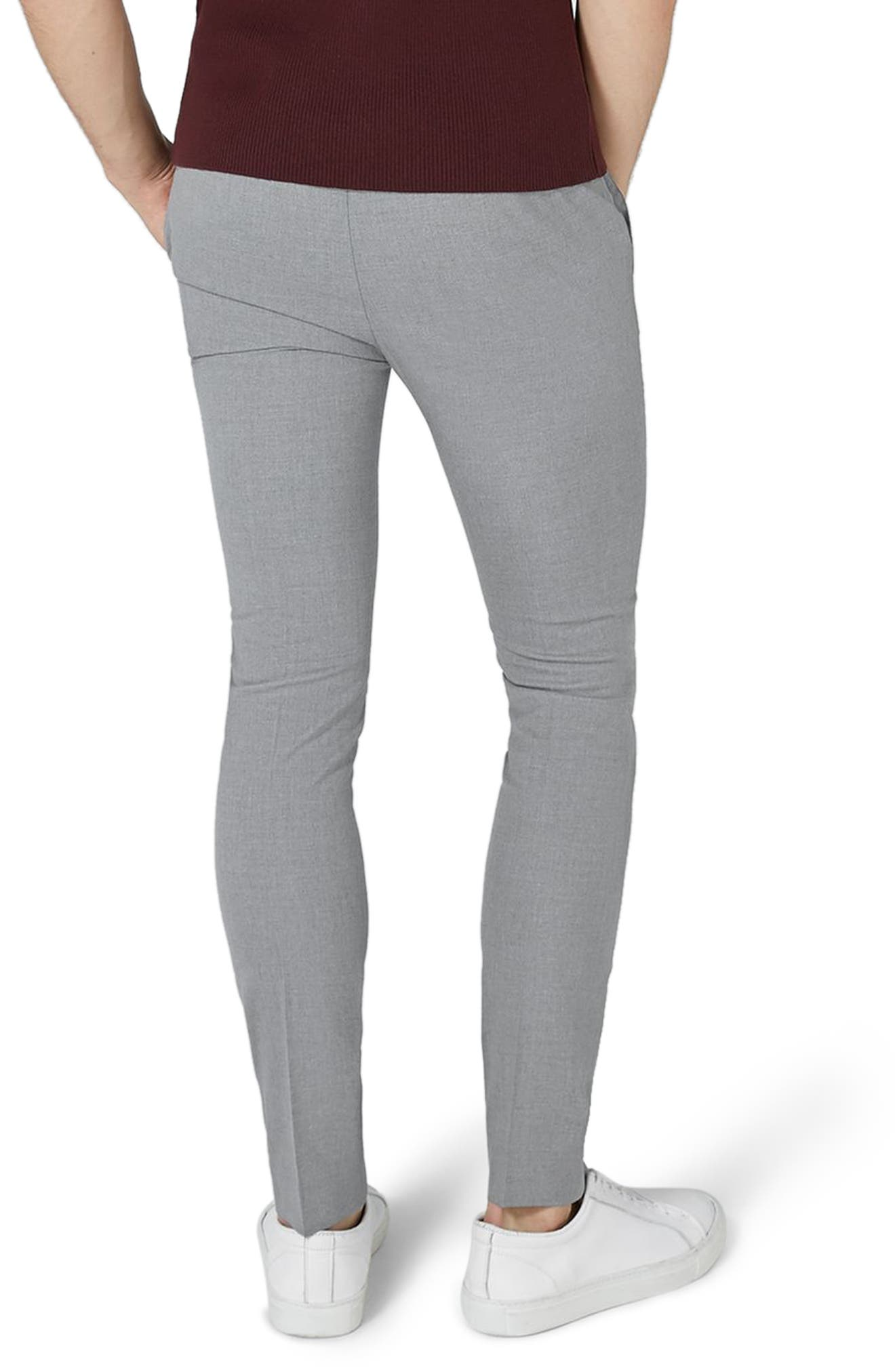 Ultra Skinny Fit Smart Trousers,                             Alternate thumbnail 2, color,                             Grey