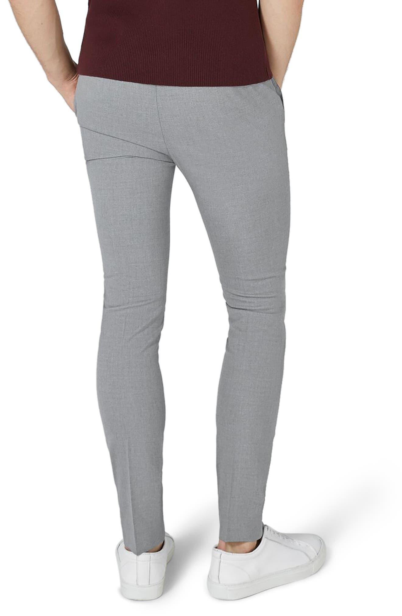Alternate Image 2  - Topman Ultra Skinny Fit Smart Trousers