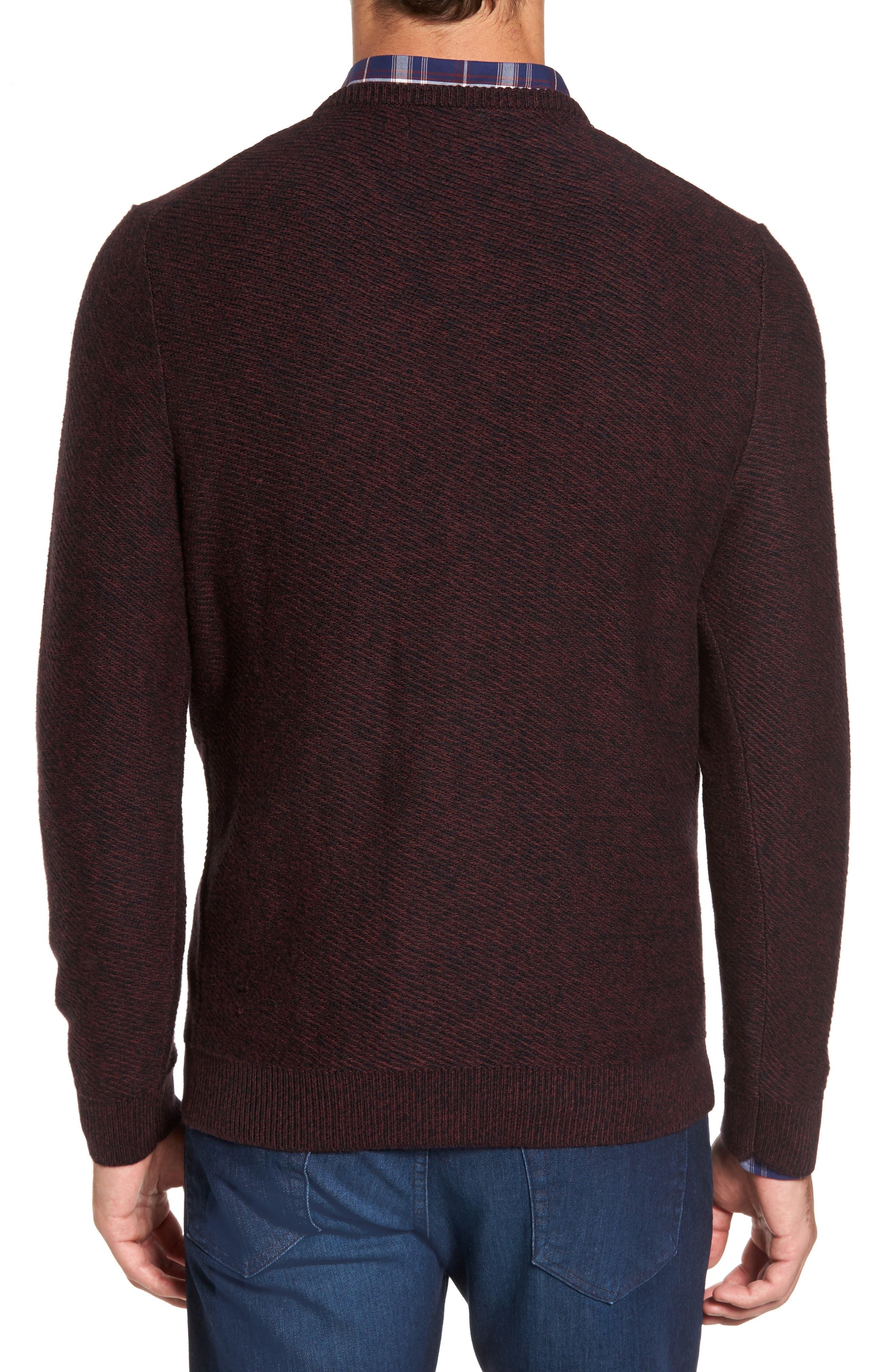Alternate Image 2  - Nordstrom Men's Shop Cotton & Cashmere V-Neck Sweater