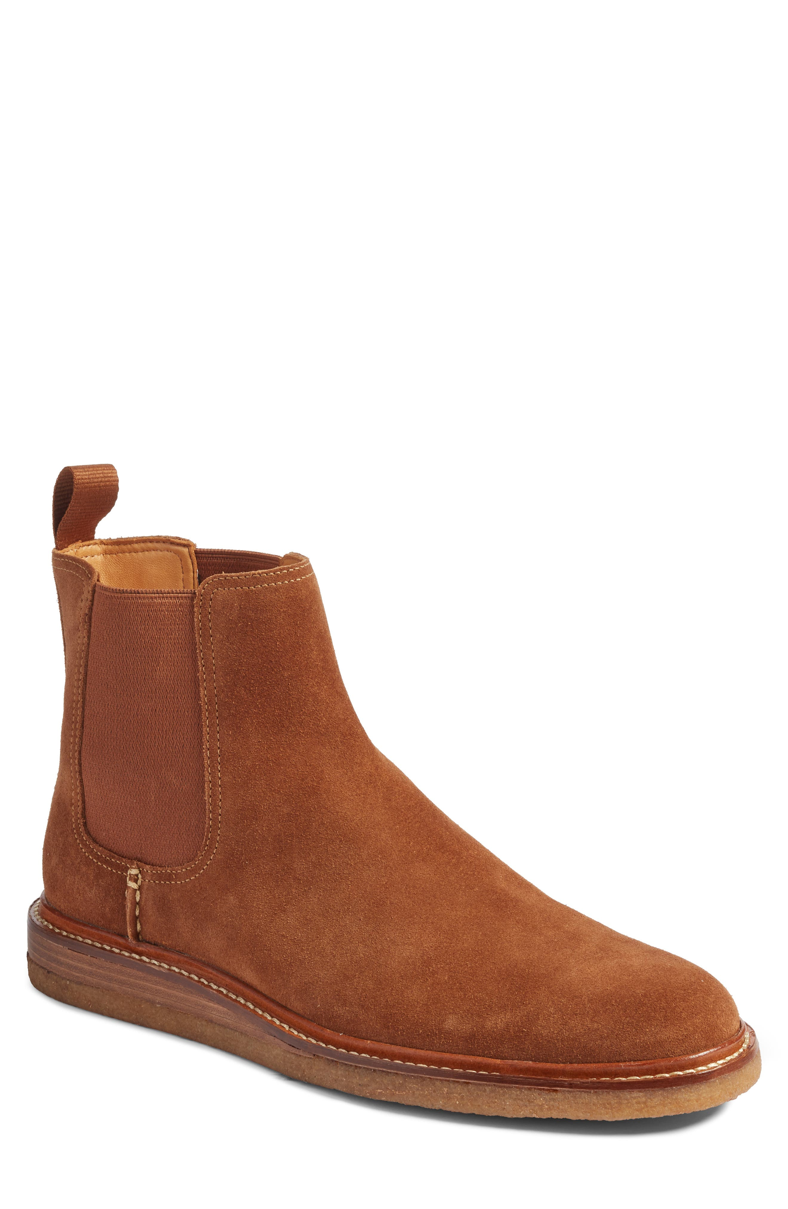 Leather Chelsea Boot,                         Main,                         color, Dark Snuff Leather
