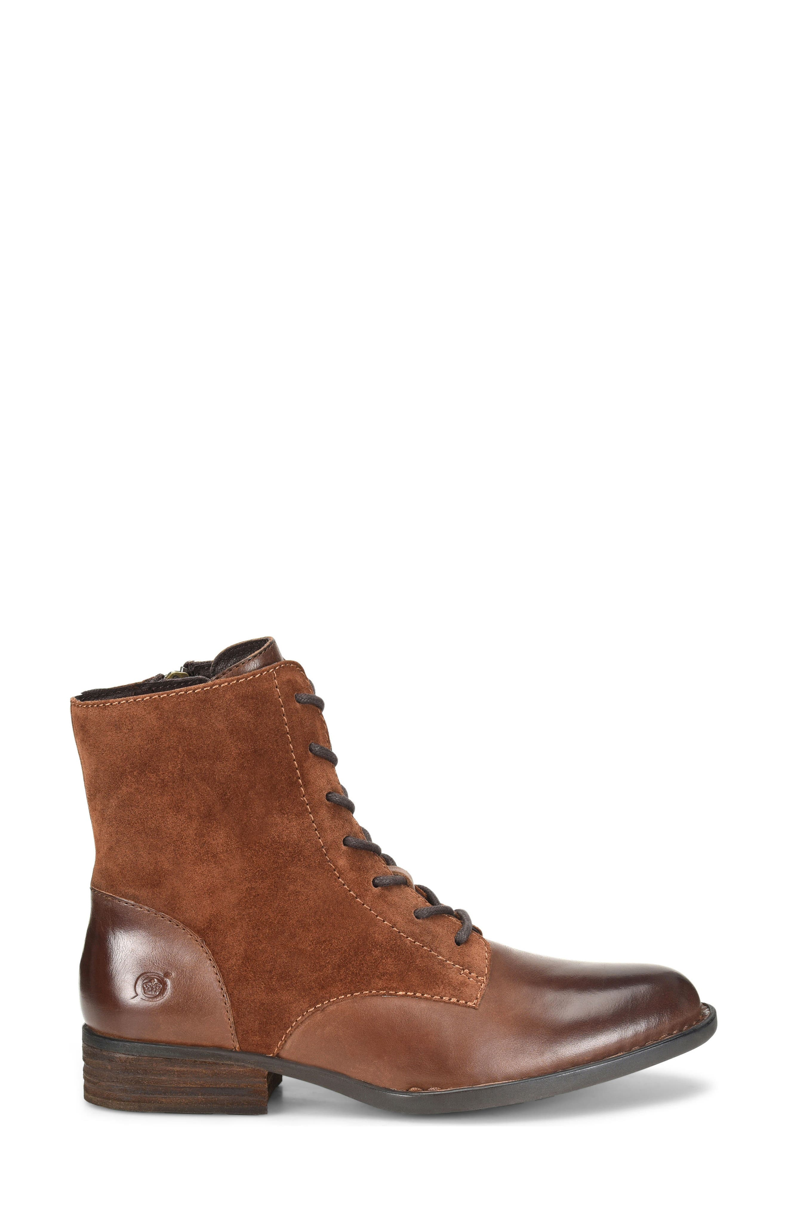 Clements Lace-Up Boot,                             Alternate thumbnail 3, color,                             Brown/ Rust Combo