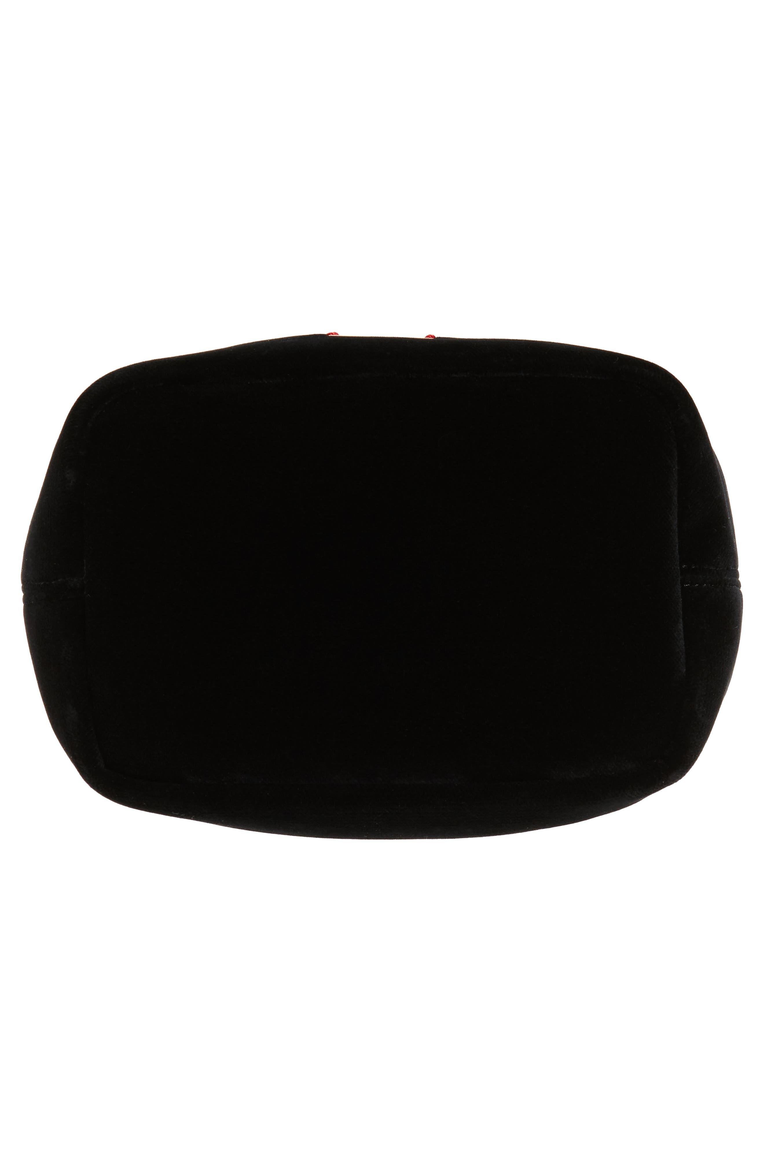 Alternate Image 5  - Frances Valentine Small Velvet Bucket Bag