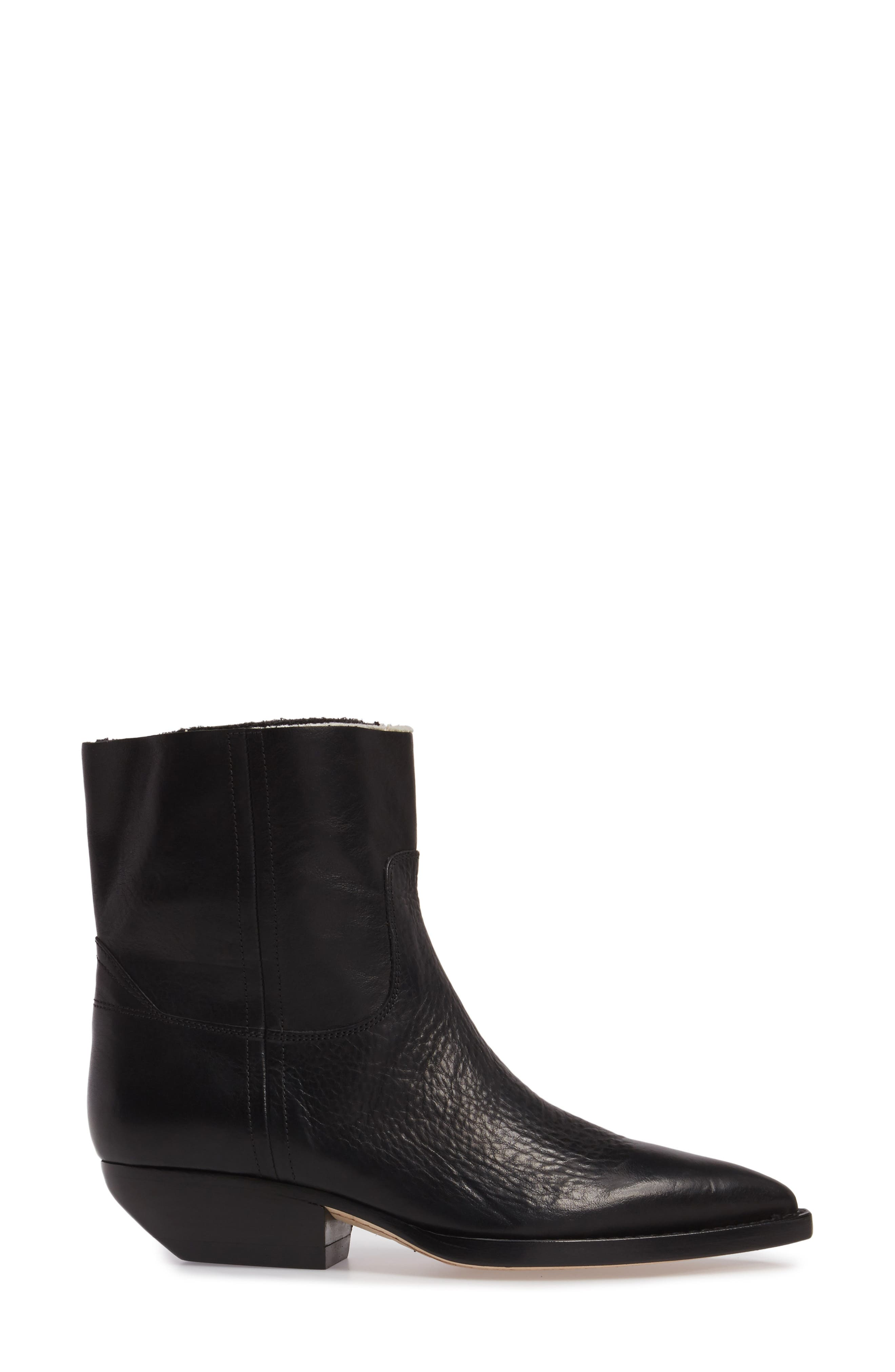 Theo Eli Western Bootie,                             Alternate thumbnail 3, color,                             Black