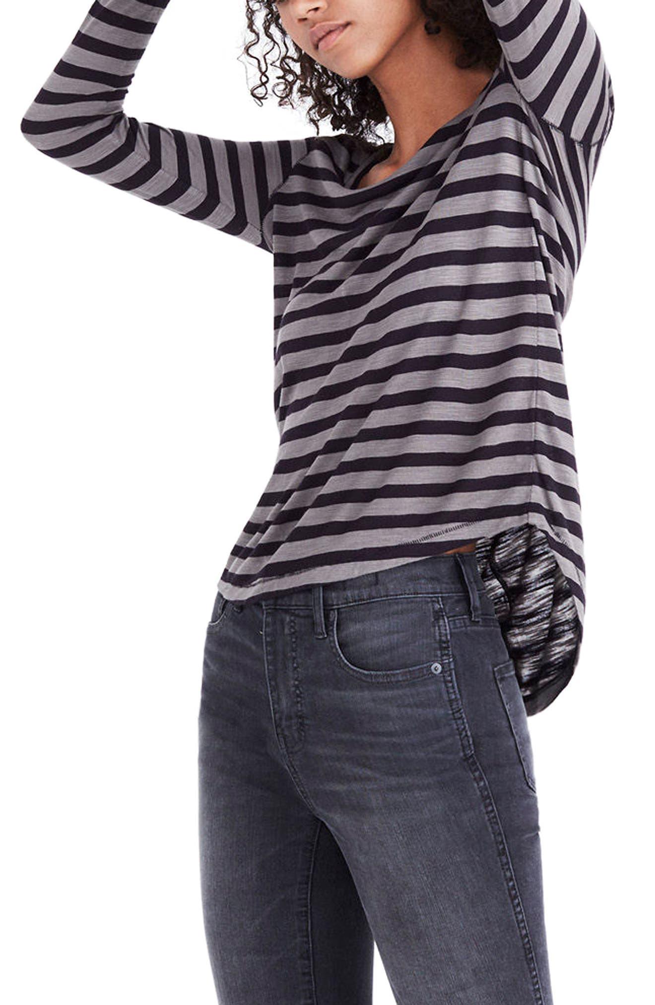 Anthem Stripe Long Sleeve Tee,                         Main,                         color, Dark Olive