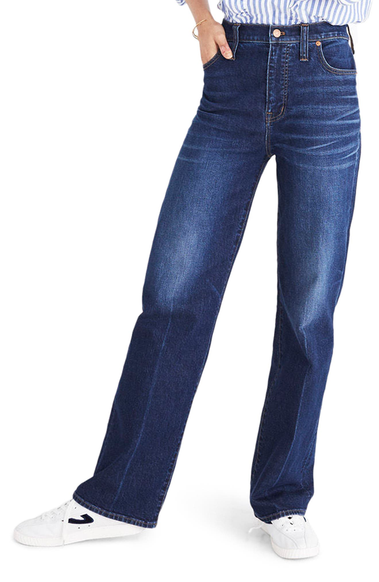 High Waist Wide Leg Jeans,                         Main,                         color, Dorset Wash