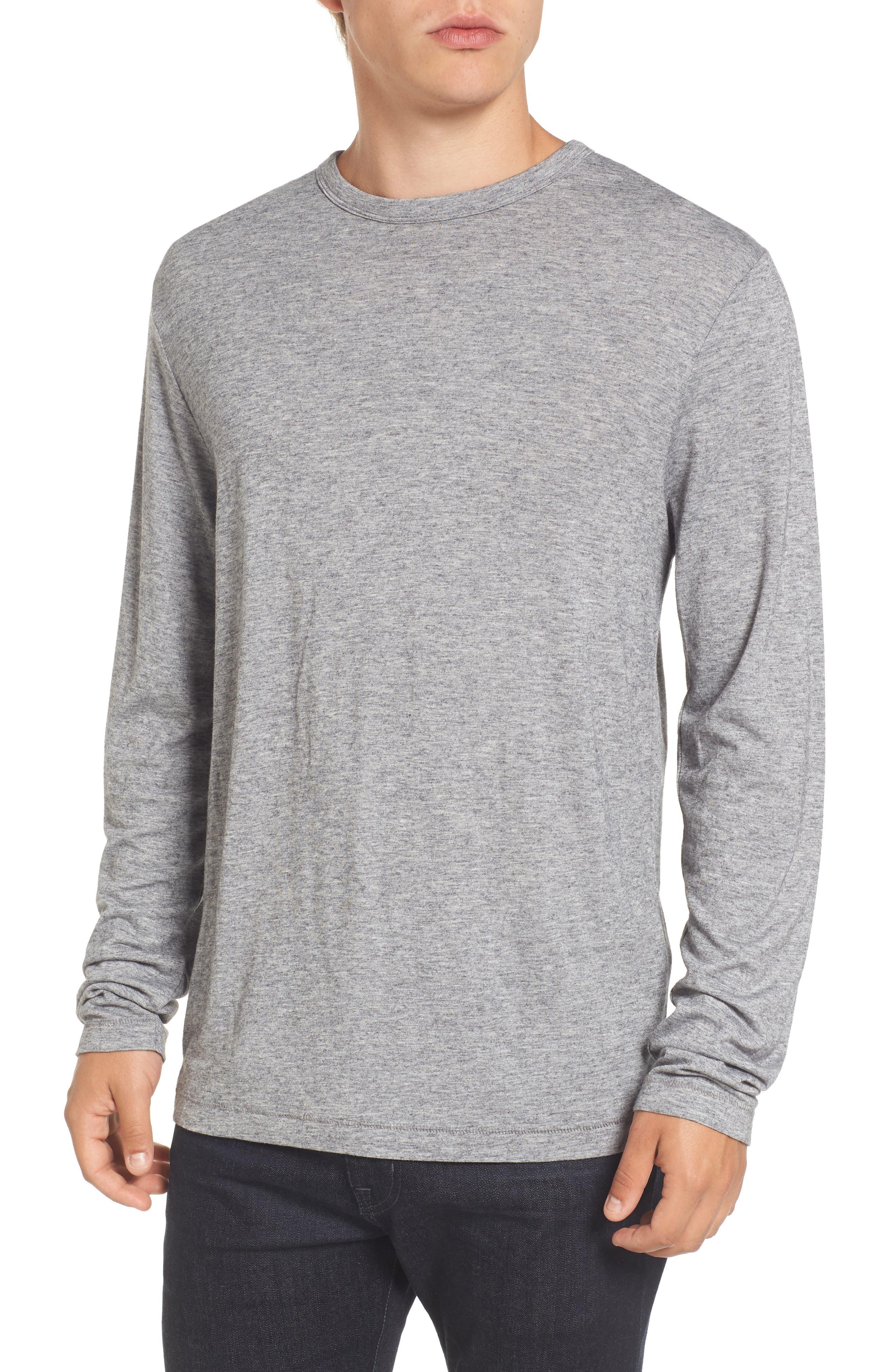 Long Sleeve T-Shirt,                             Main thumbnail 1, color,                             Grey Melange
