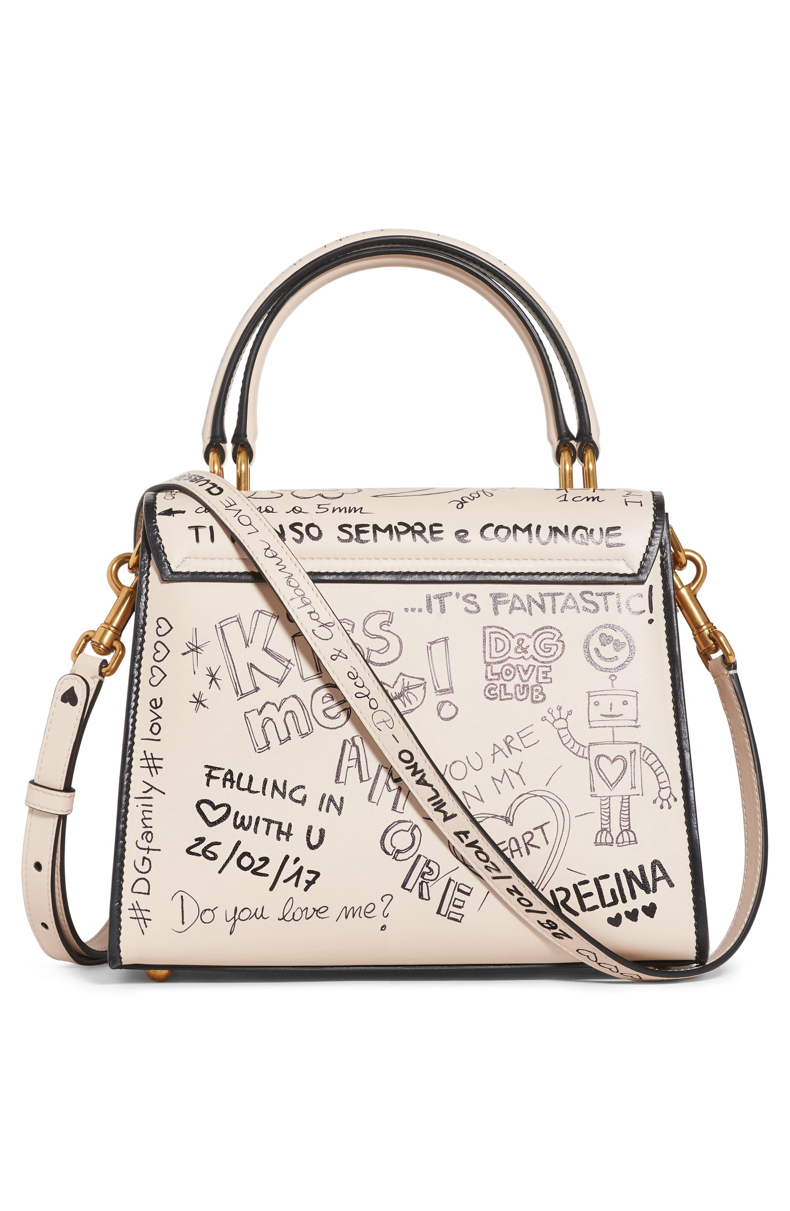 Alternate Image 3  - Dolce&Gabbana Medium Welcome Leather Satchel