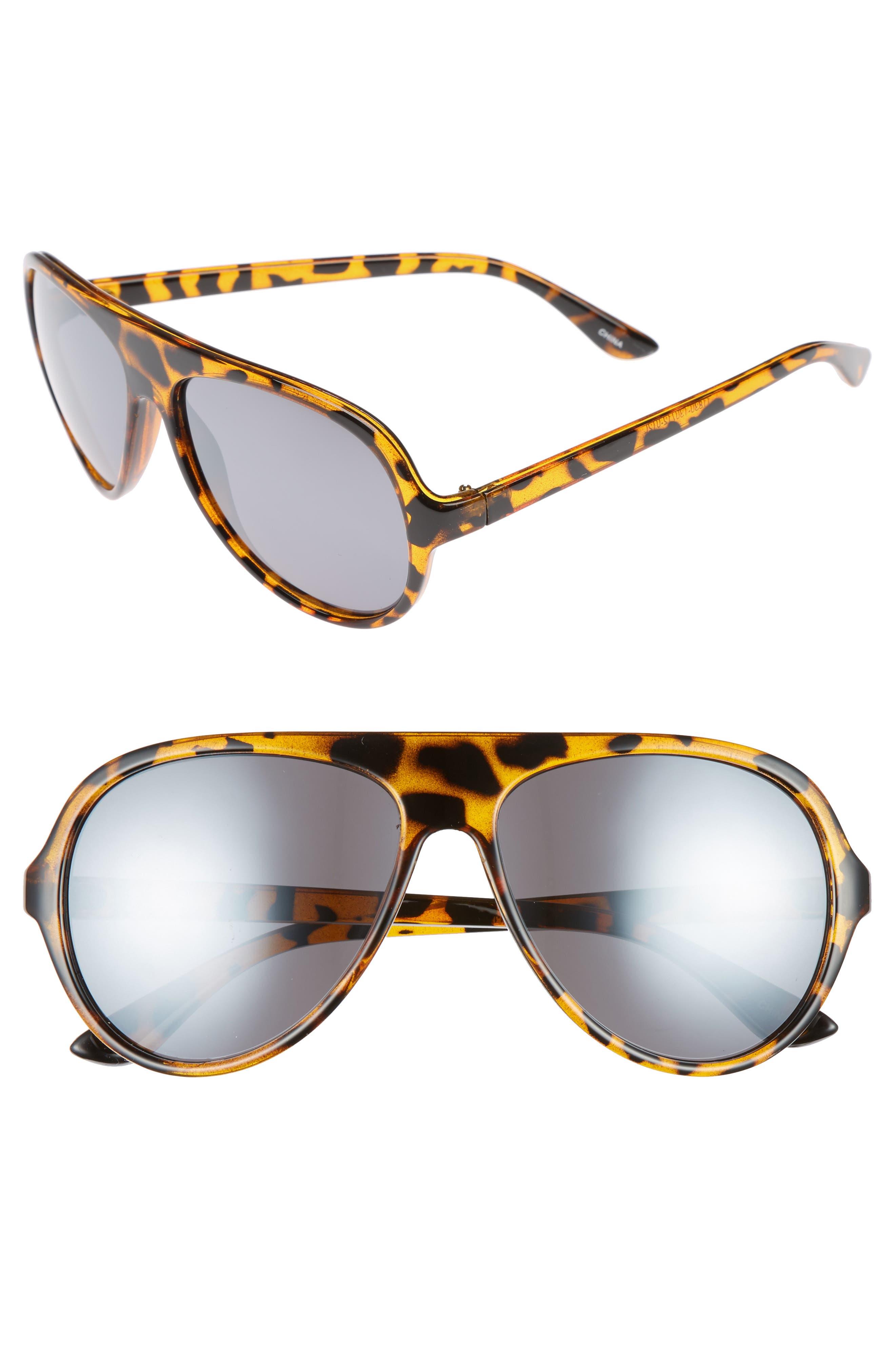 Shield Sunglasses,                         Main,                         color, Tort/ Black