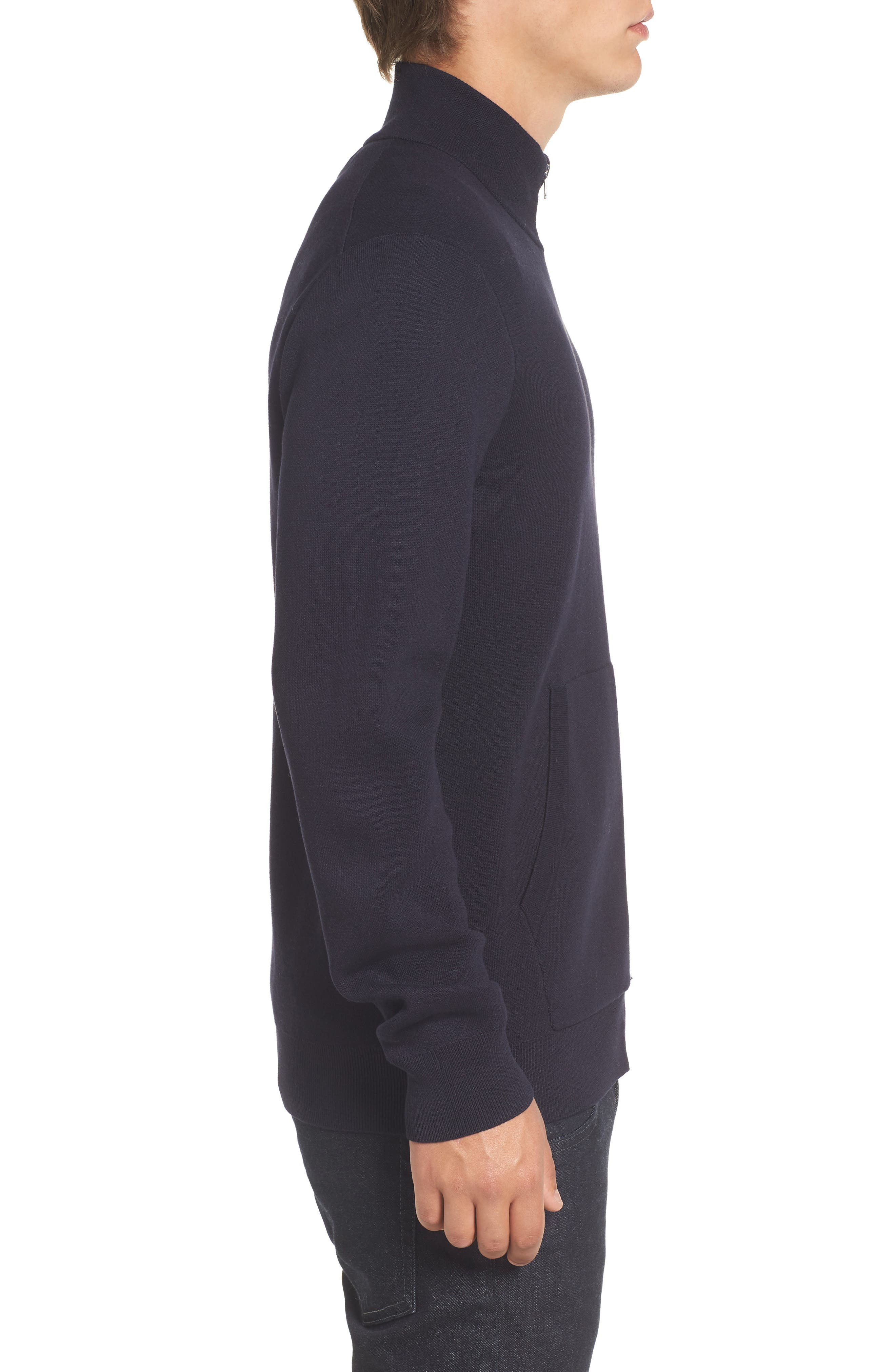 Lakra Zip-Up Sweater,                             Alternate thumbnail 3, color,                             Marine Blue