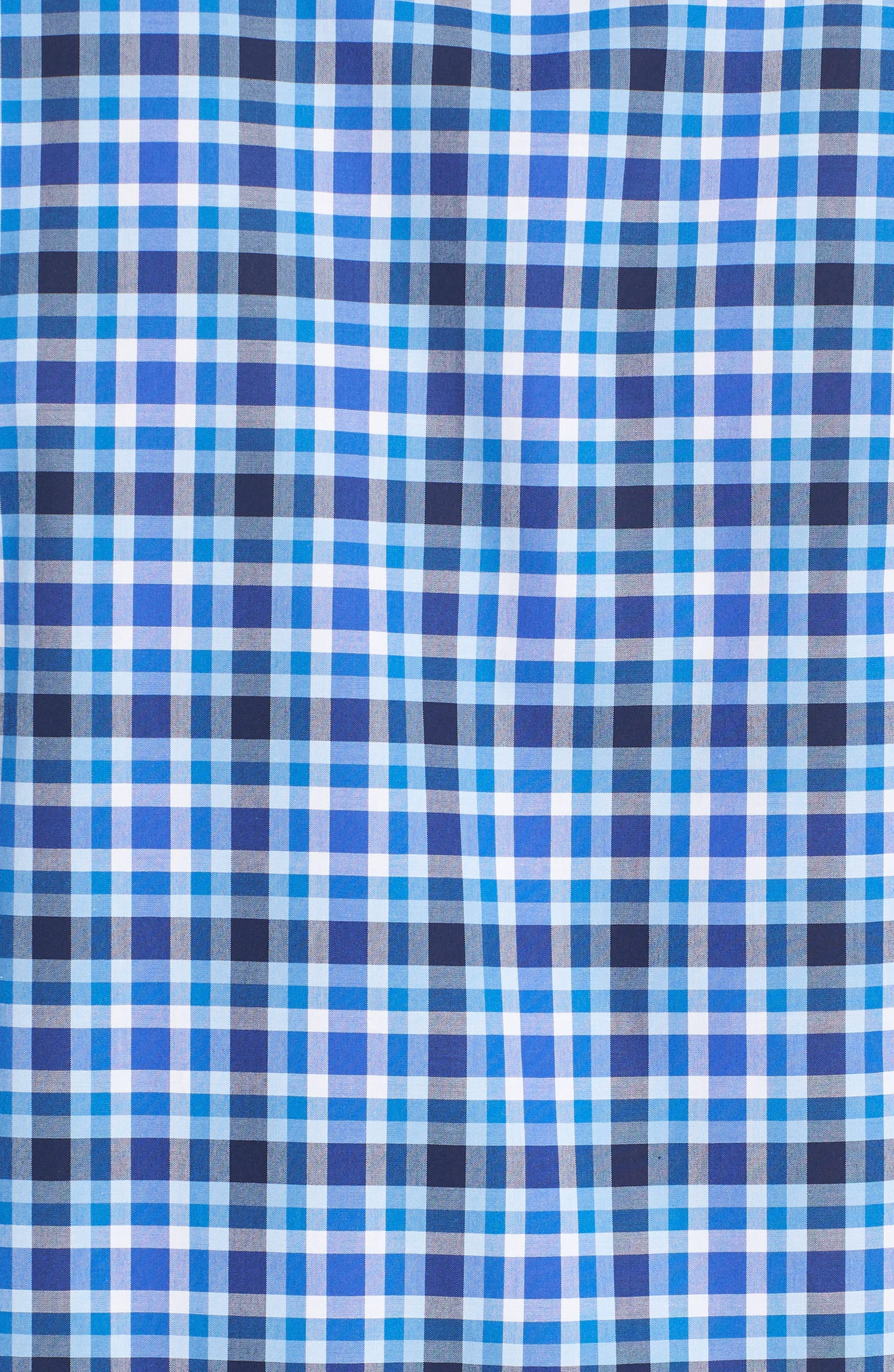 Alternate Image 5  - Bugatchi Shaped Fit Plaid Sport Shirt