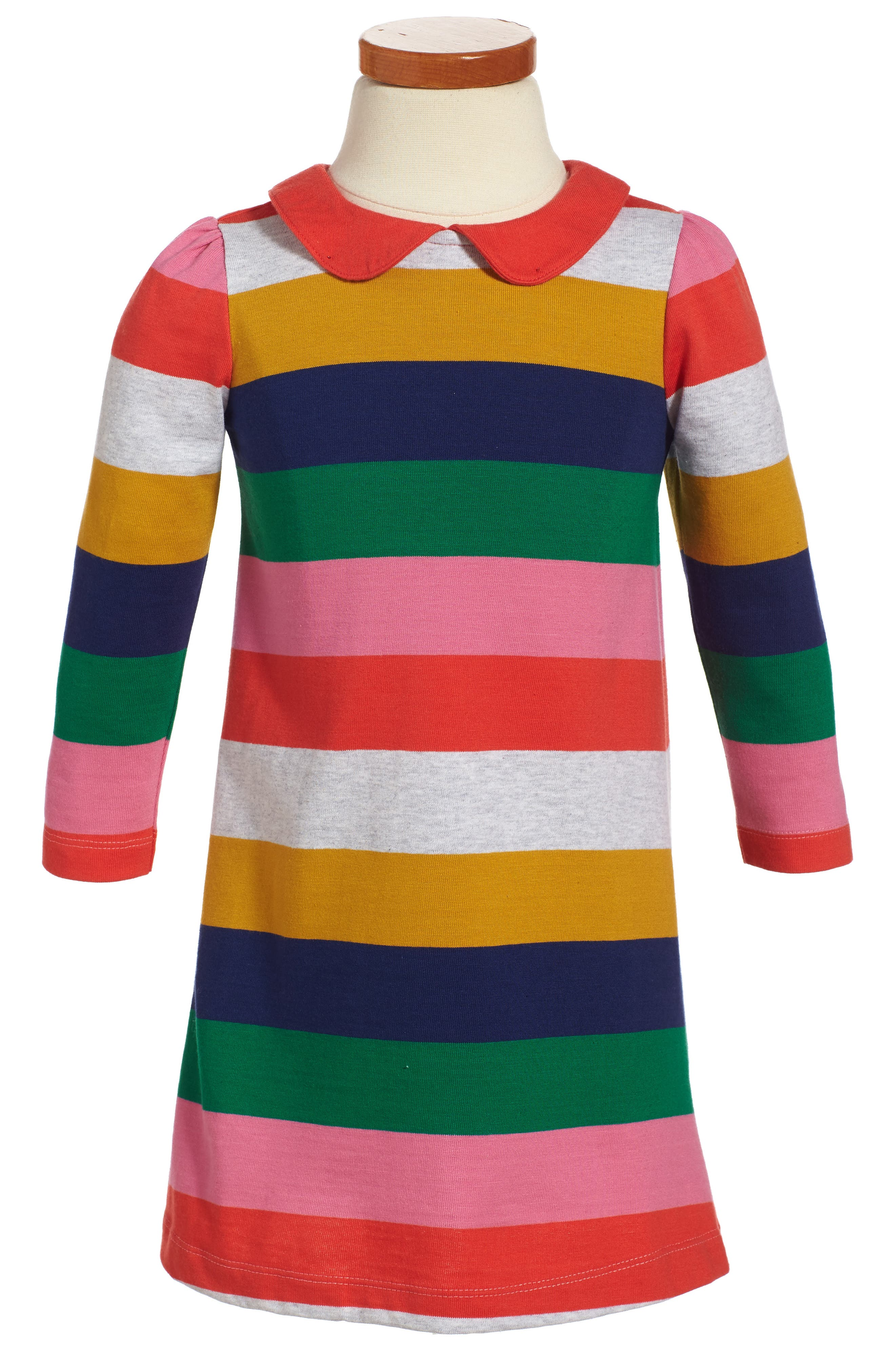 Collared Jersey Dress,                         Main,                         color, Pink Rainbow