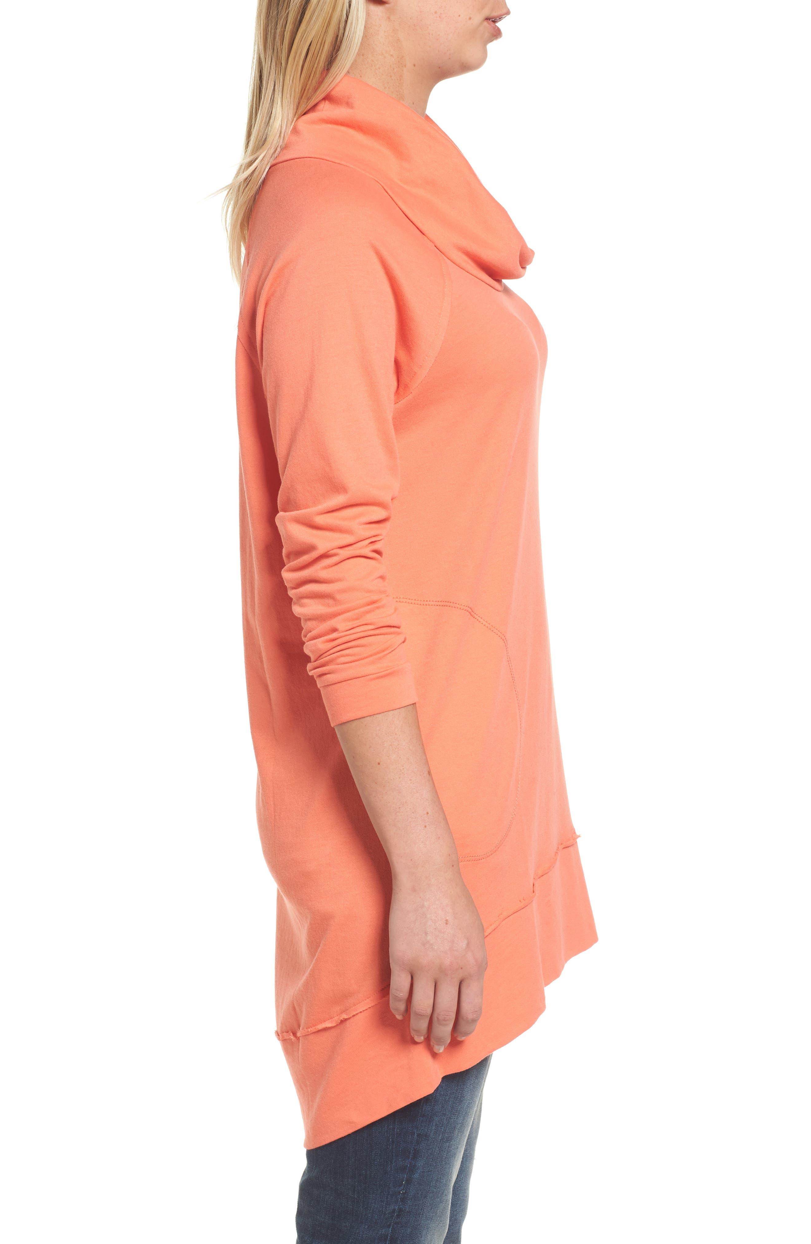 Alternate Image 3  - Caslon® Cowl Neck Tunic Sweatshirt (Regular & Petite)