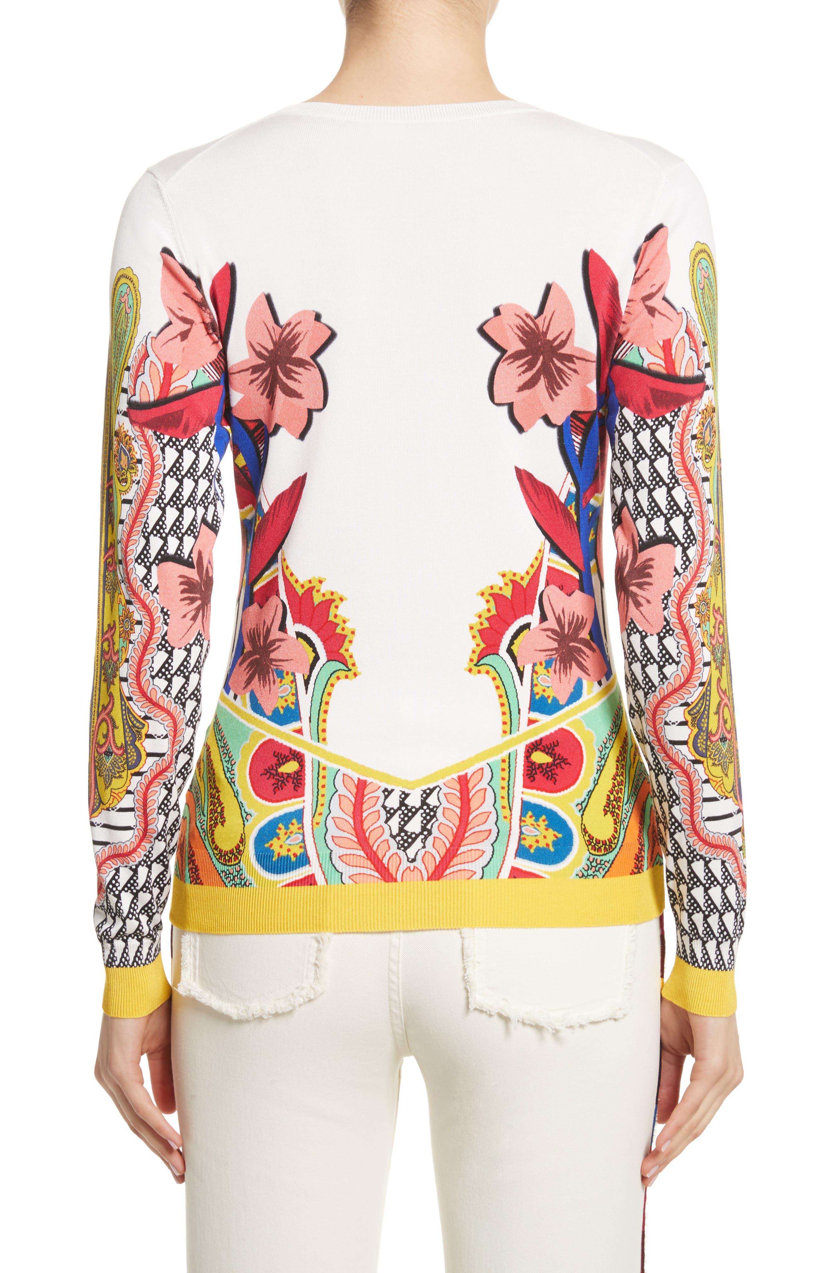 Alternate Image 2  - Etro Floral Stretch Silk Sweater