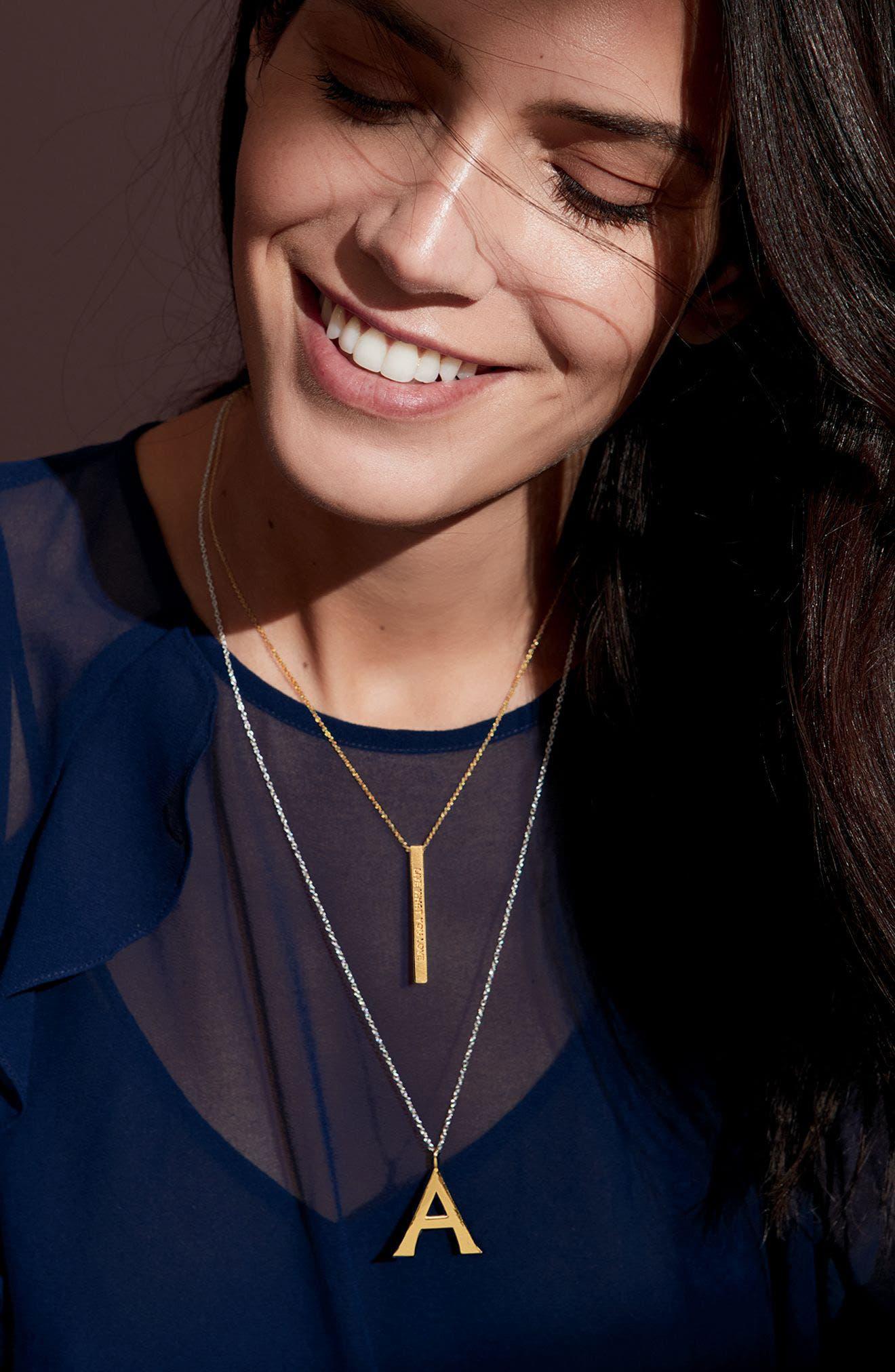 Alternate Image 3  - Argento Vivo Initial Pendant Necklace