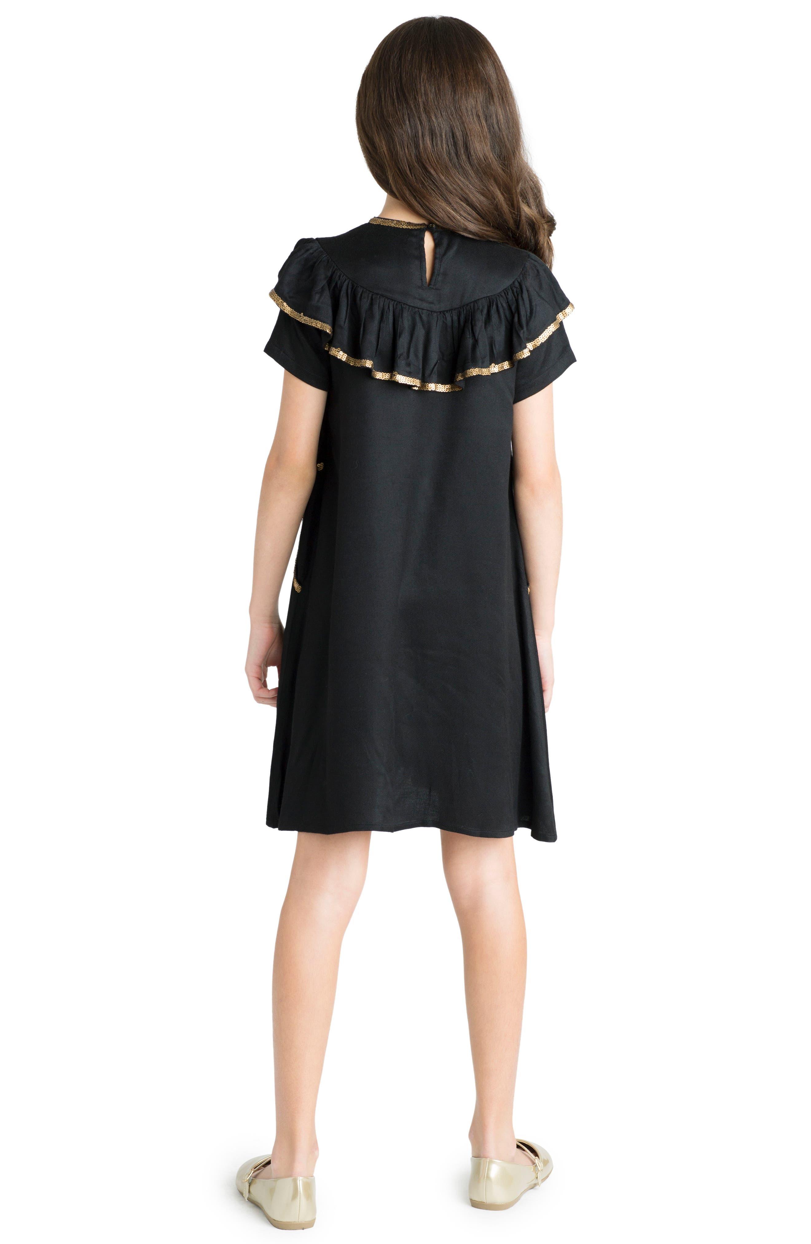 Enchanted Dress,                             Alternate thumbnail 3, color,                             Black