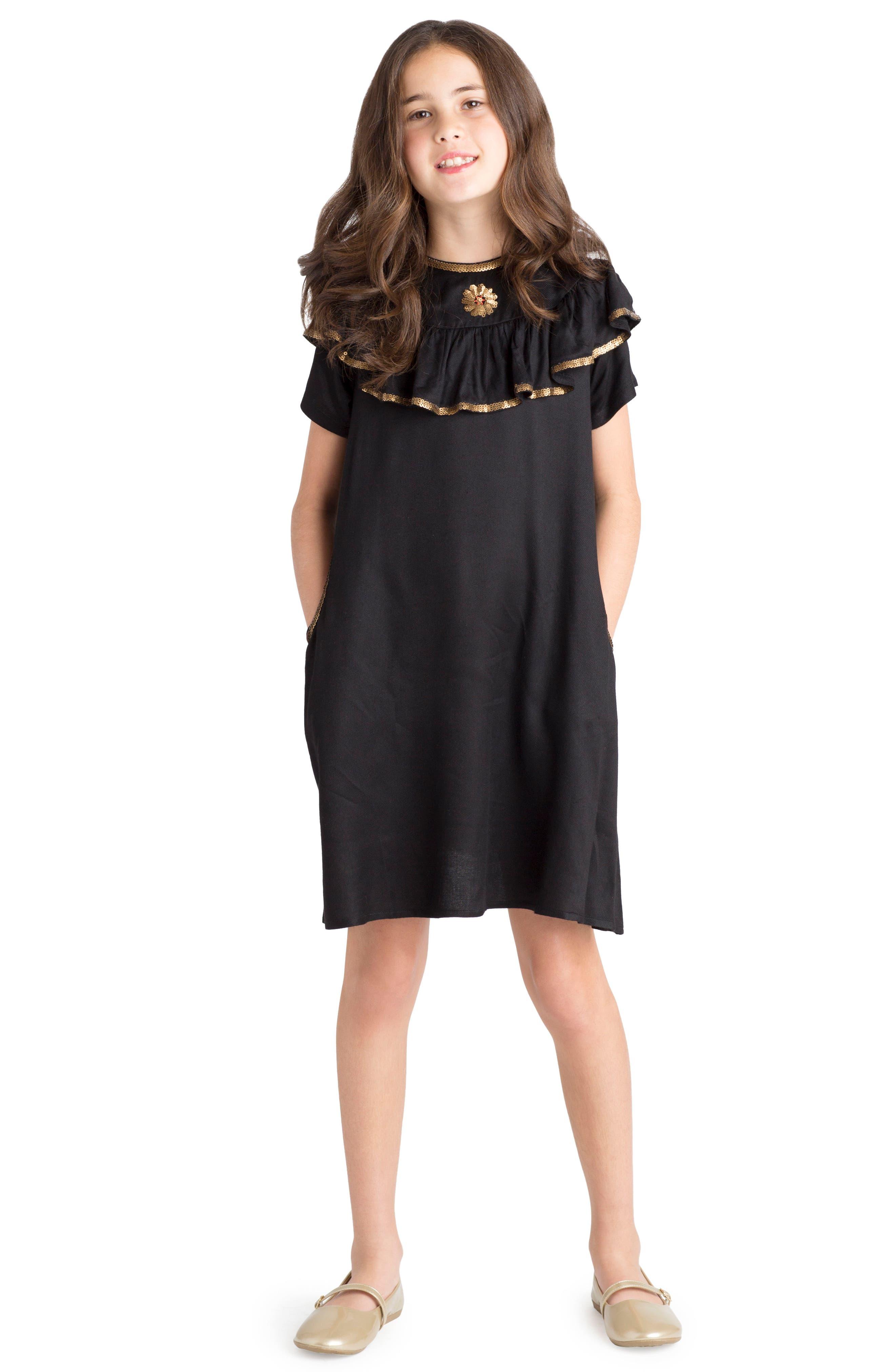 Enchanted Dress,                             Alternate thumbnail 4, color,                             Black