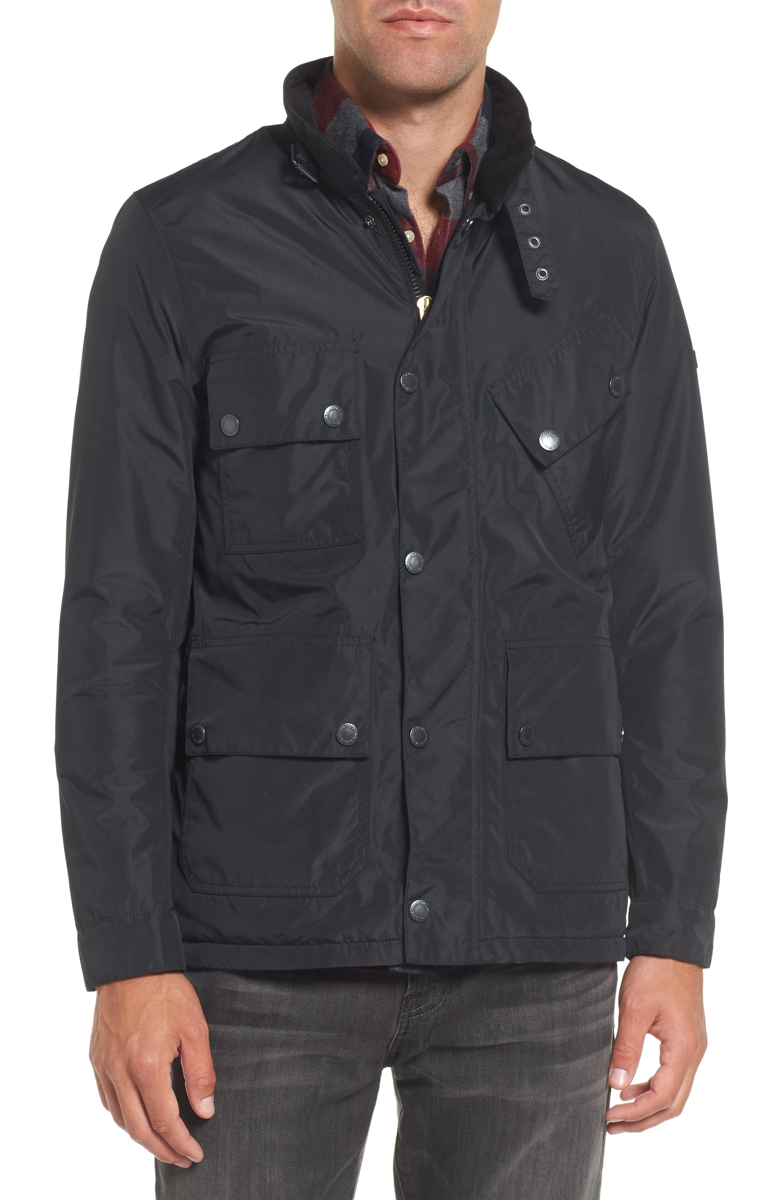 B.Intl Tyne Waterproof Jacket,                             Alternate thumbnail 4, color,                             Black