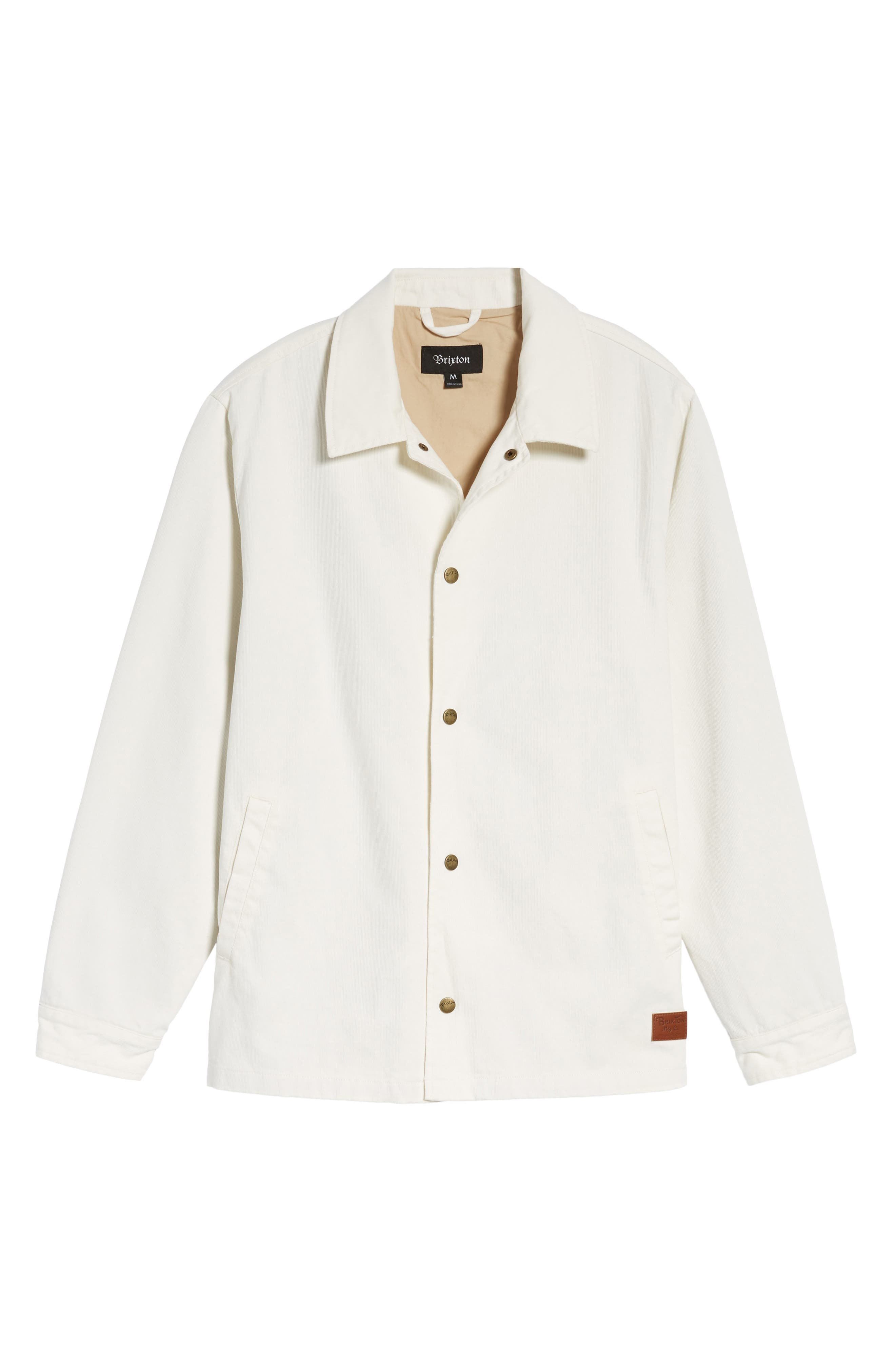 Wright Water Resistant Coach's Jacket,                         Main,                         color, Off White