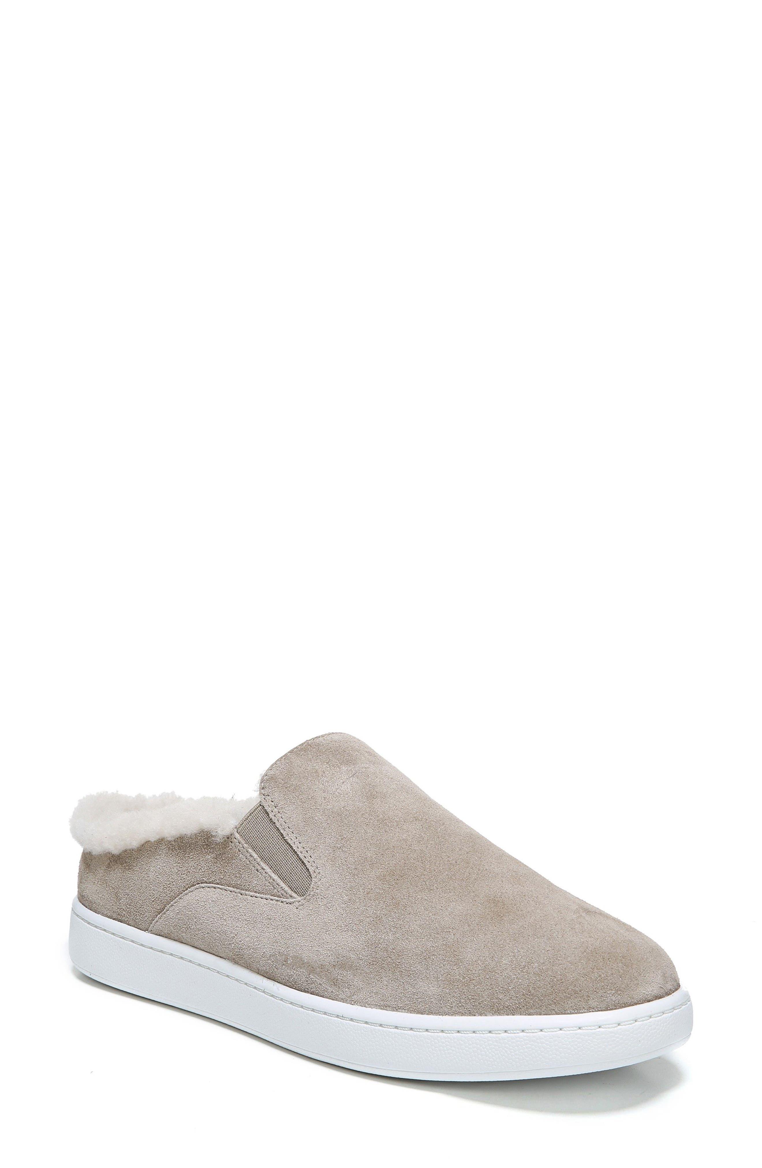Vince Verrell Genuine Shearling Slip-On Sneaker (Women)