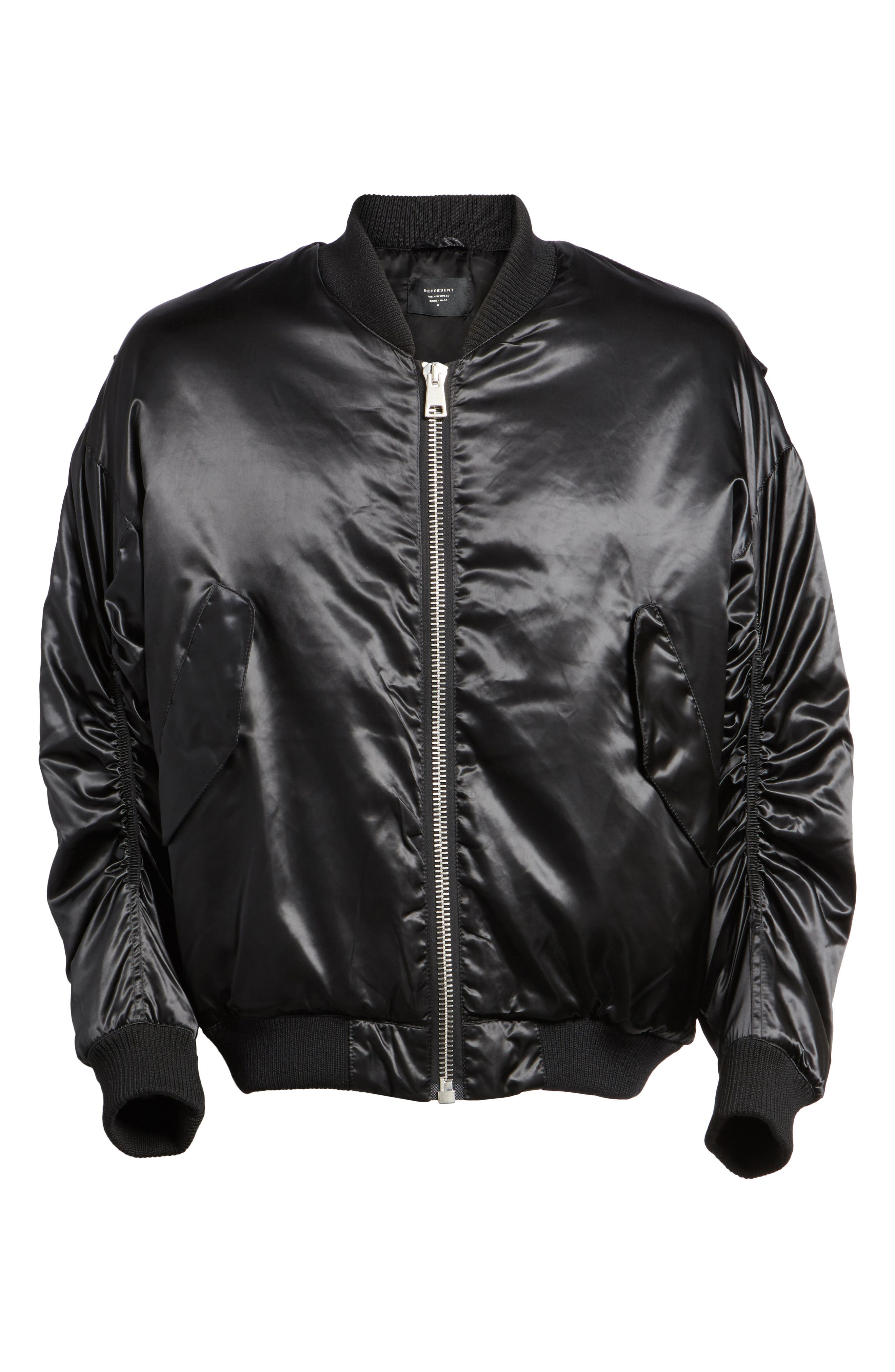 Classic Bomber Jacket,                             Alternate thumbnail 6, color,                             Black