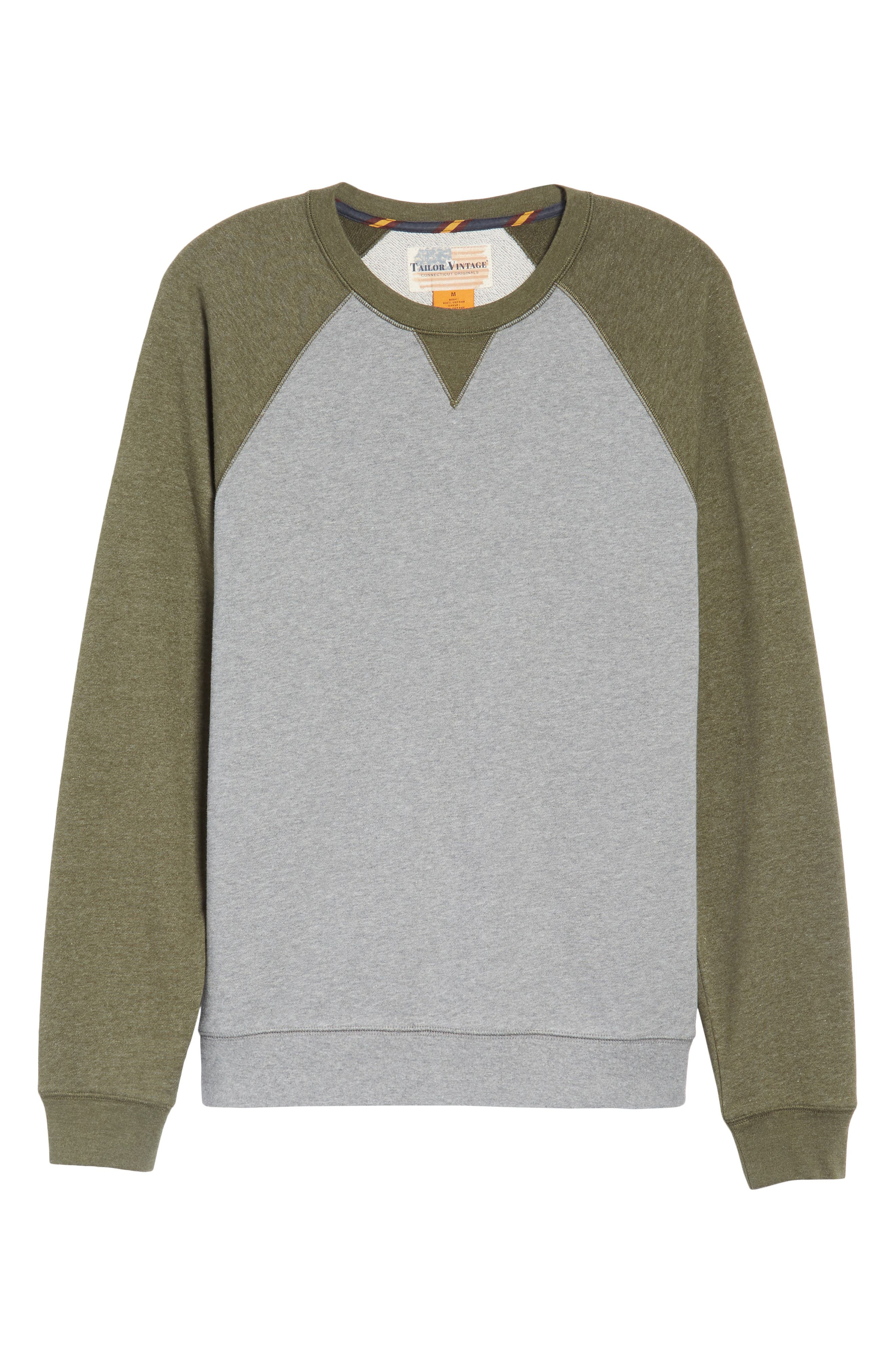 Colorblock French Terry Sweatshirt,                             Alternate thumbnail 6, color,                             Med Grey Army Heather