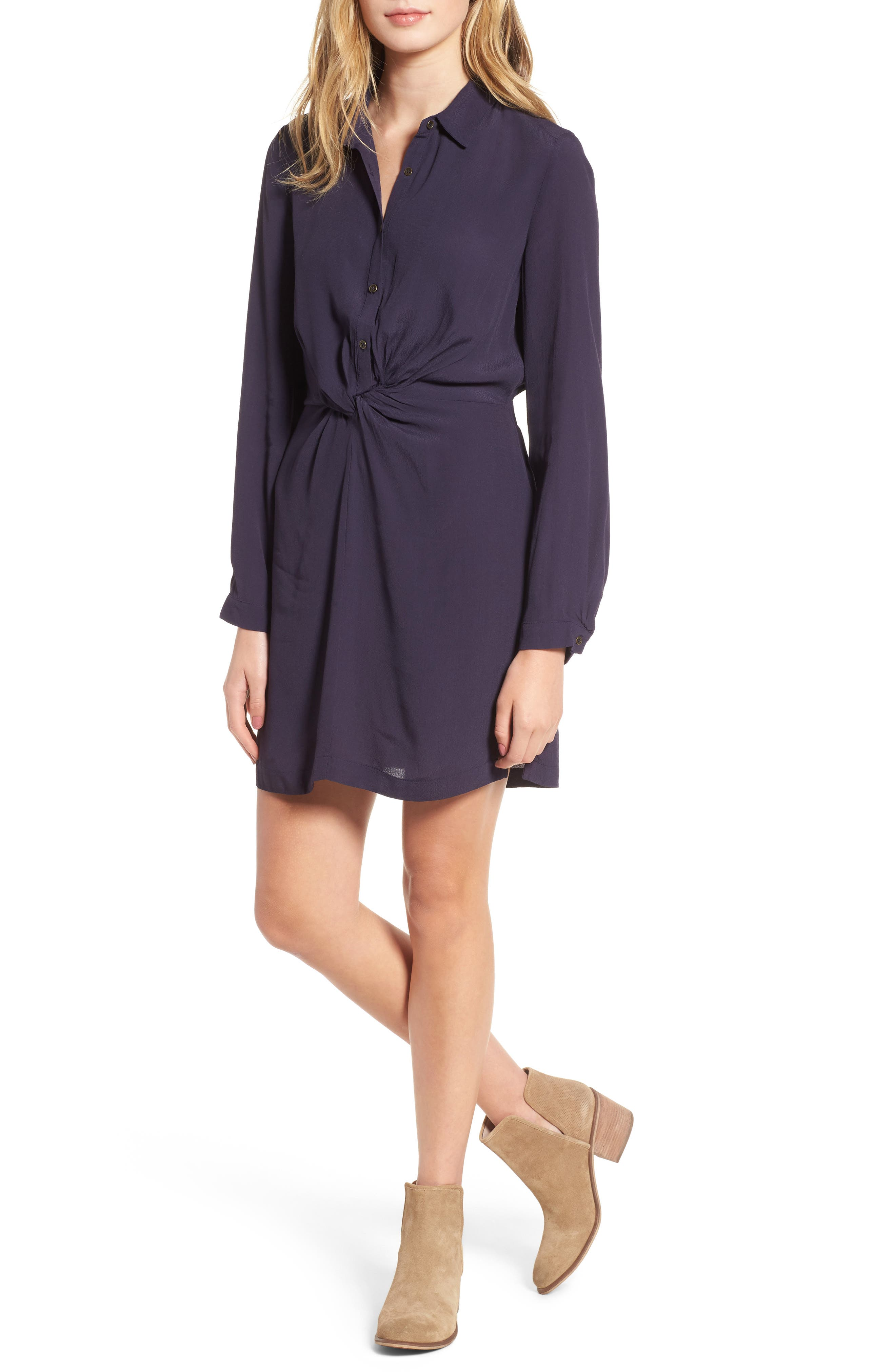 Lush Twisted Shirtdress