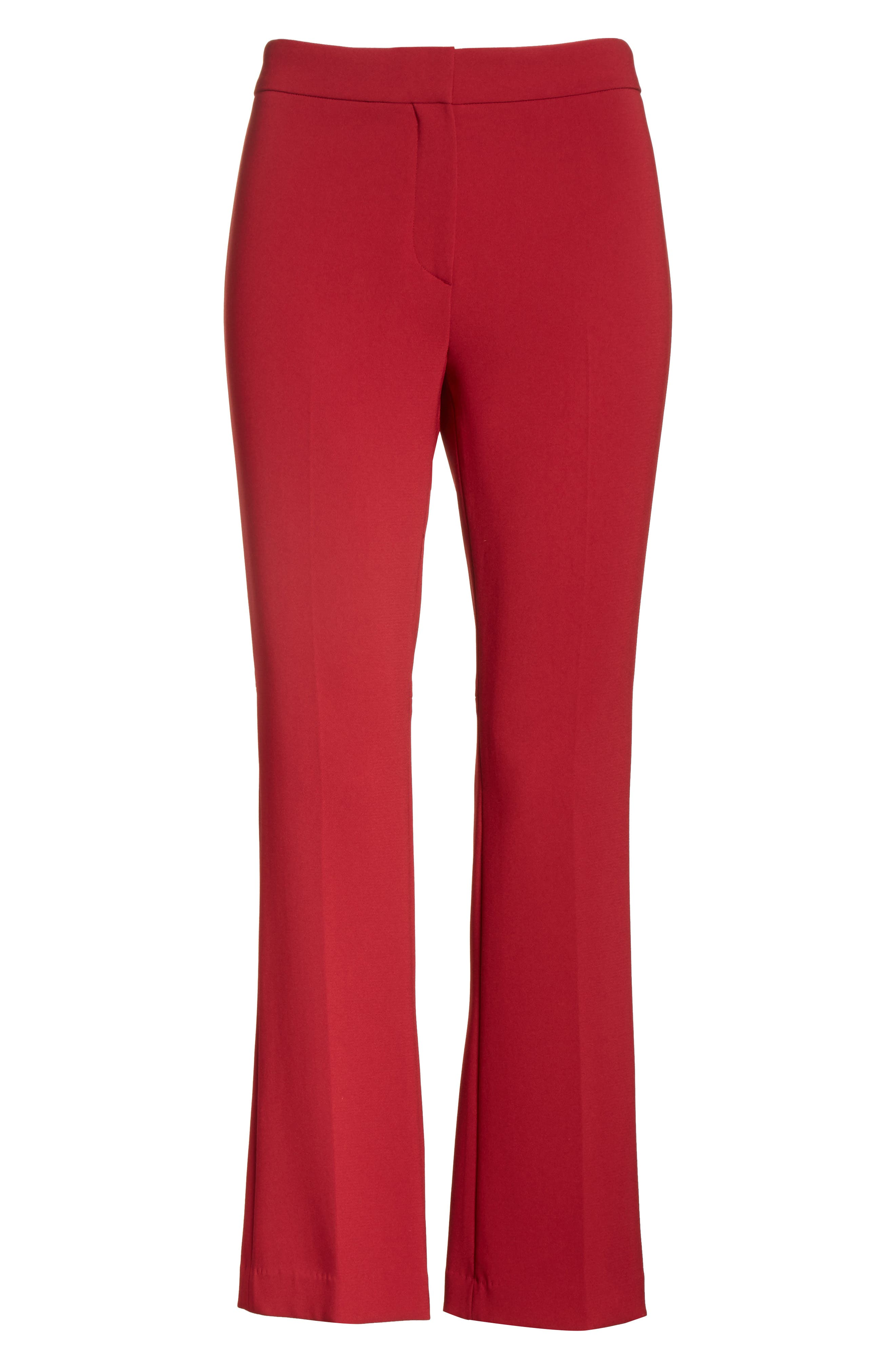 Admiral Crepe Kick Crop Pants,                             Alternate thumbnail 6, color,                             Bright Raspberry