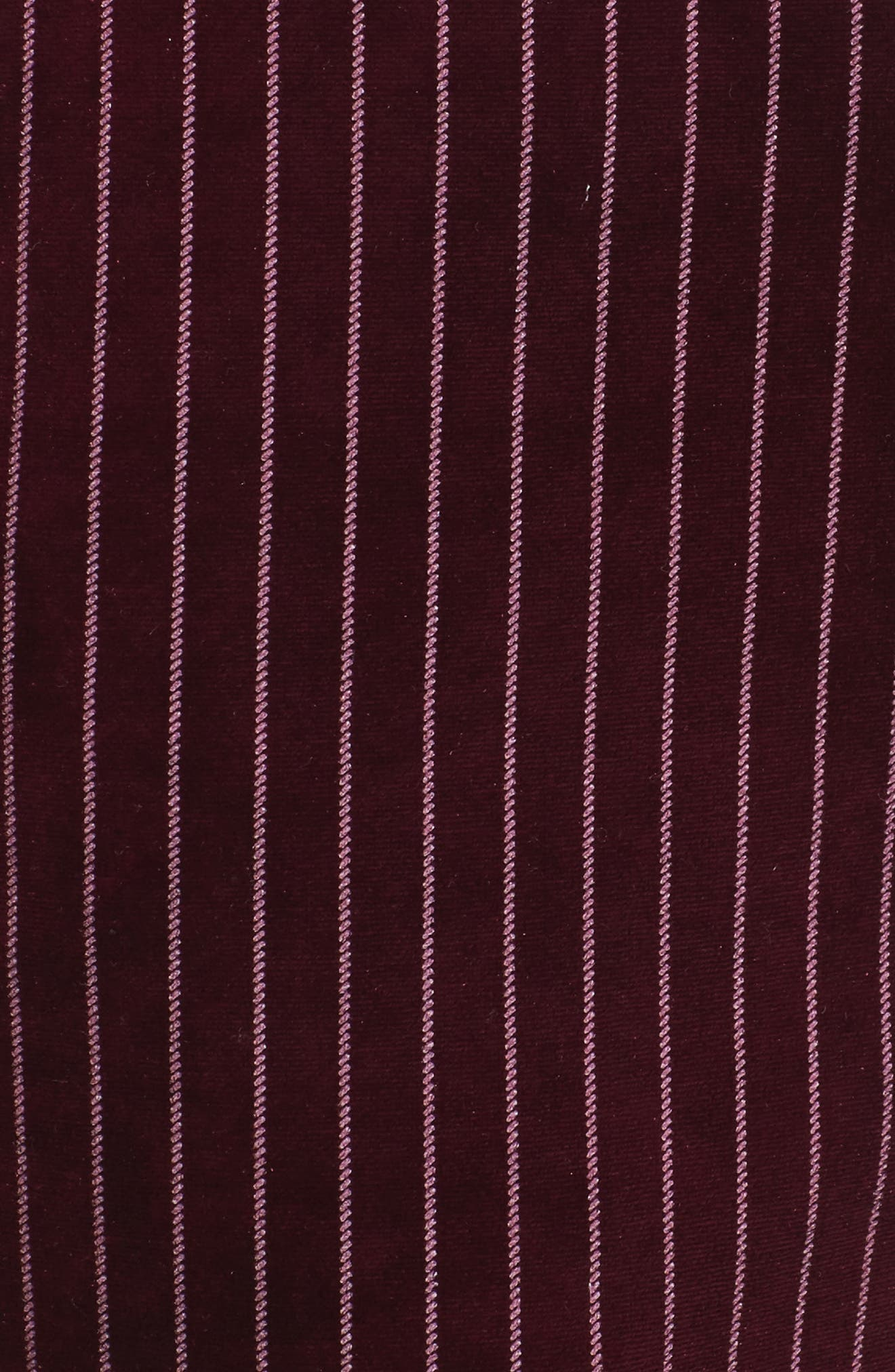 Velour Ankle Trousers,                             Alternate thumbnail 5, color,                             Red Tannin Dotted Stripe