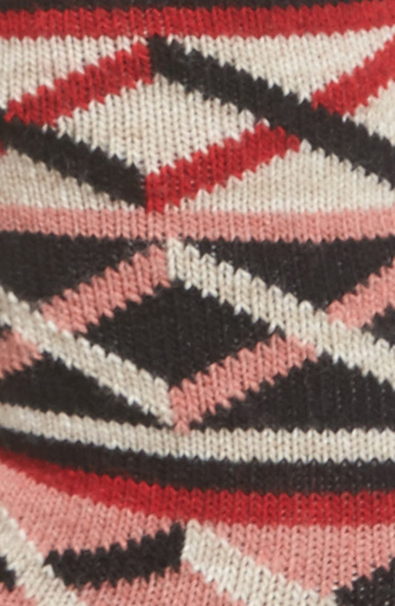 Ellinor Crew Socks,                             Alternate thumbnail 2, color,                             Red