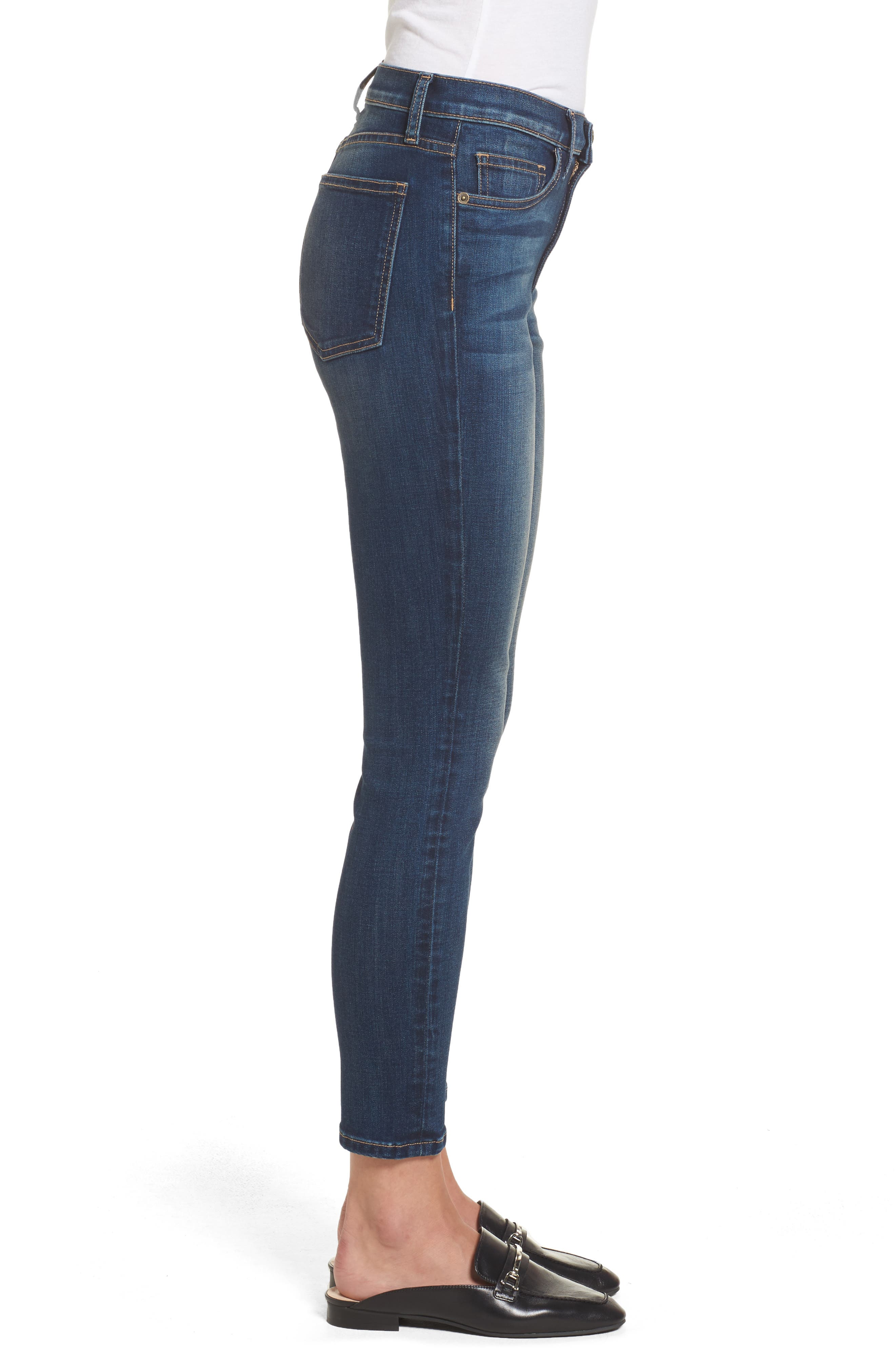 Alternate Image 4  - Current/Elliott The Stiletto High Waist Ankle Skinny Jeans (Love Found)
