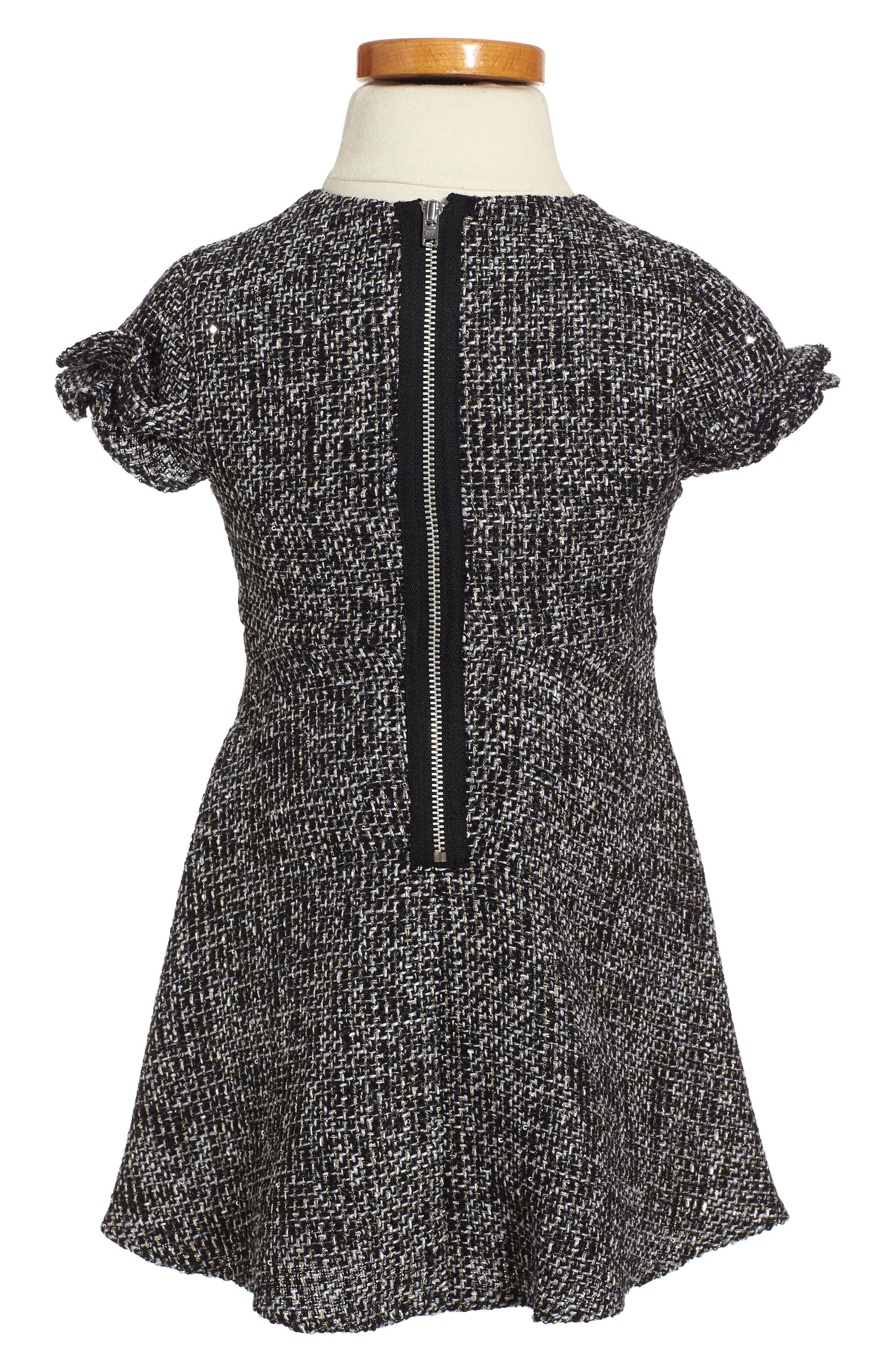 Alternate Image 2  - David Charles Sequin Tweed Dress (Toddler Girls & Little Girls)