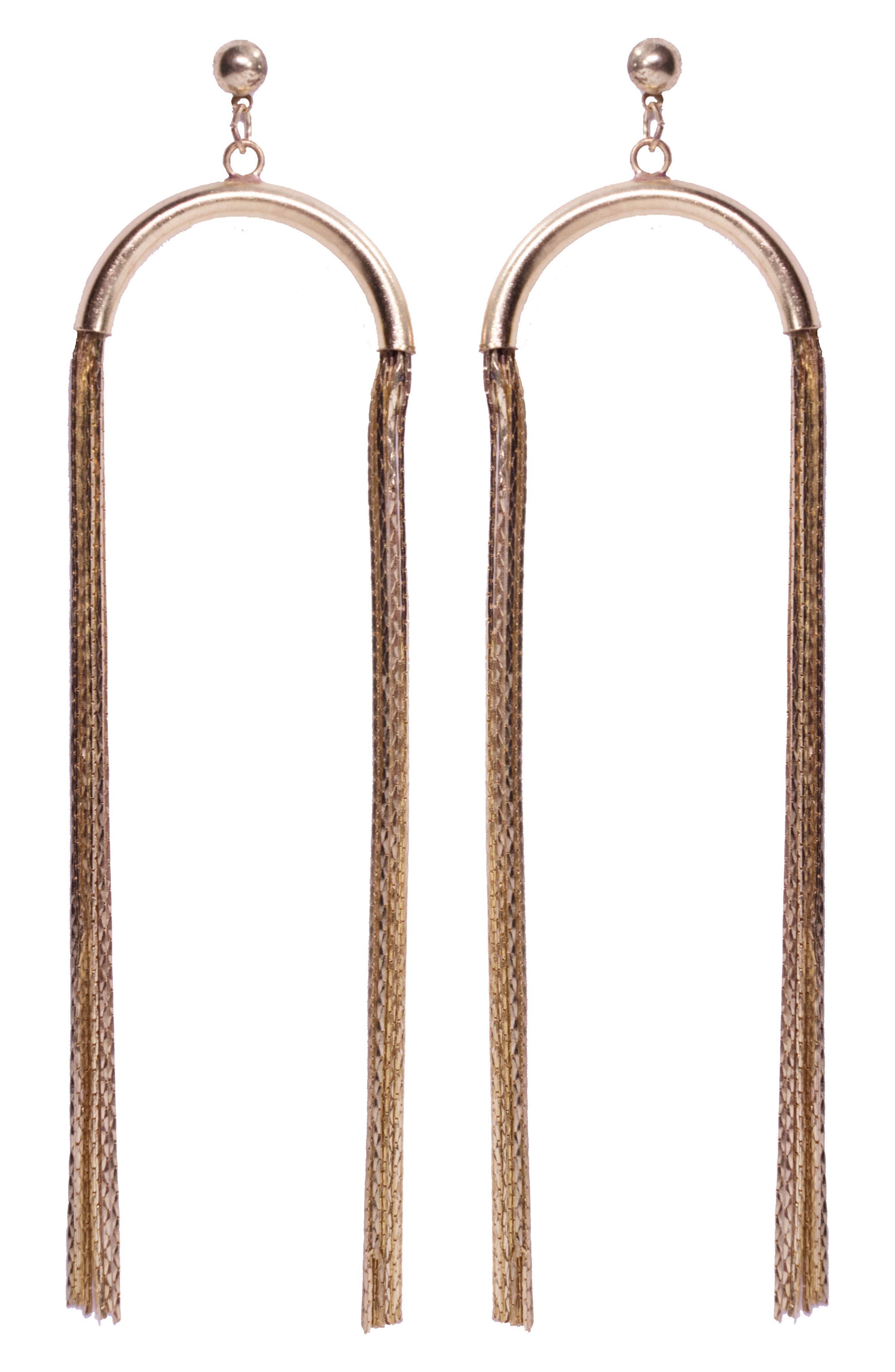 Noa Drop Earrings,                         Main,                         color, Gold