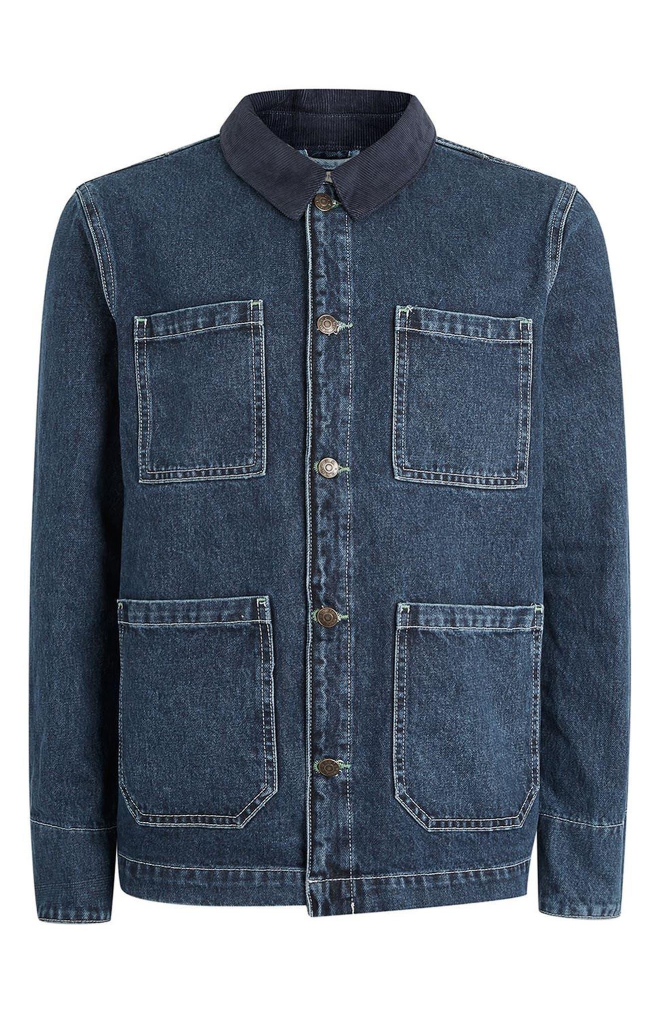 Alternate Image 4  - Topman Denim Workwear Jacket
