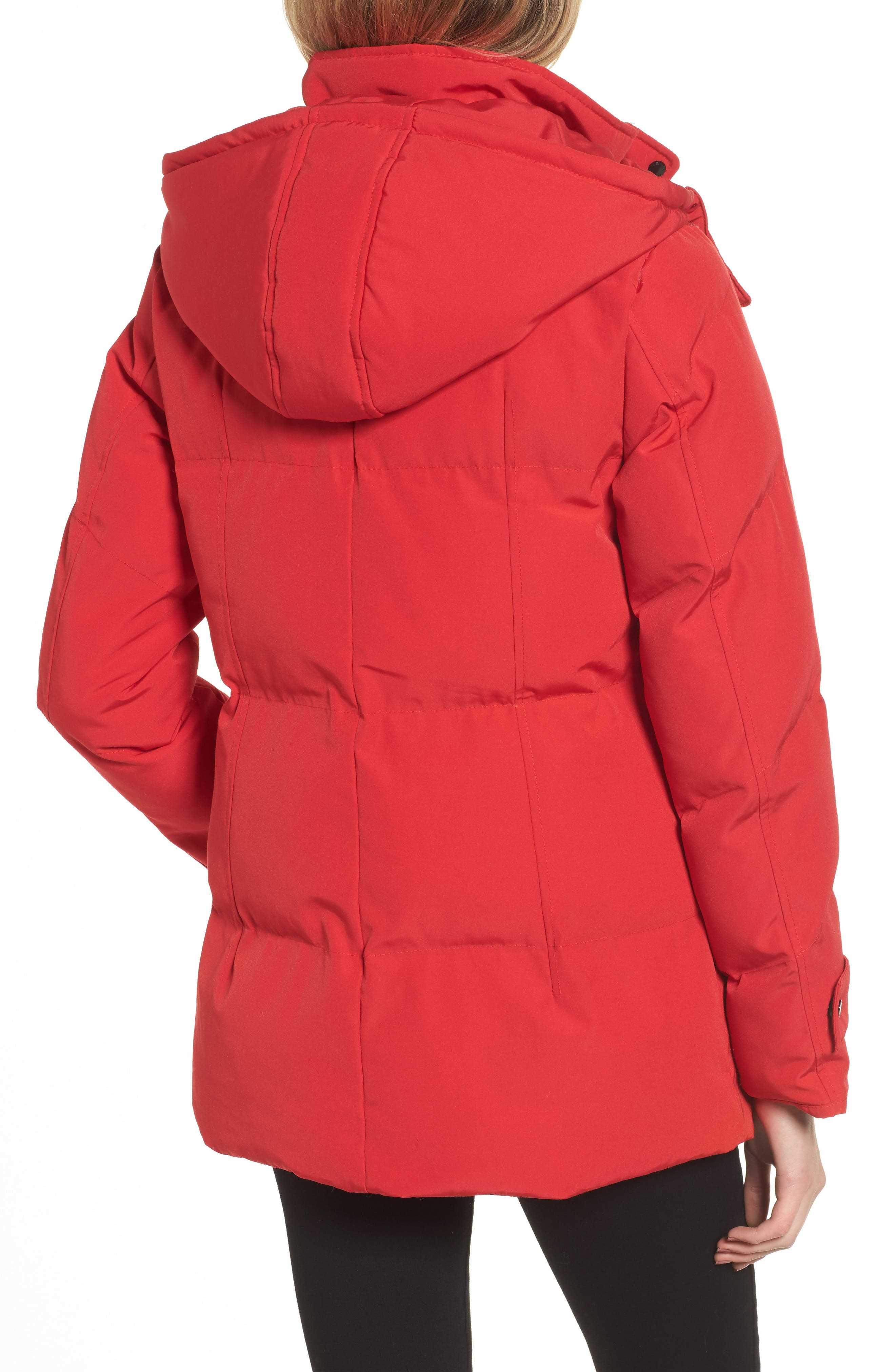 Quilted Puffer Jacket,                             Alternate thumbnail 2, color,                             Red