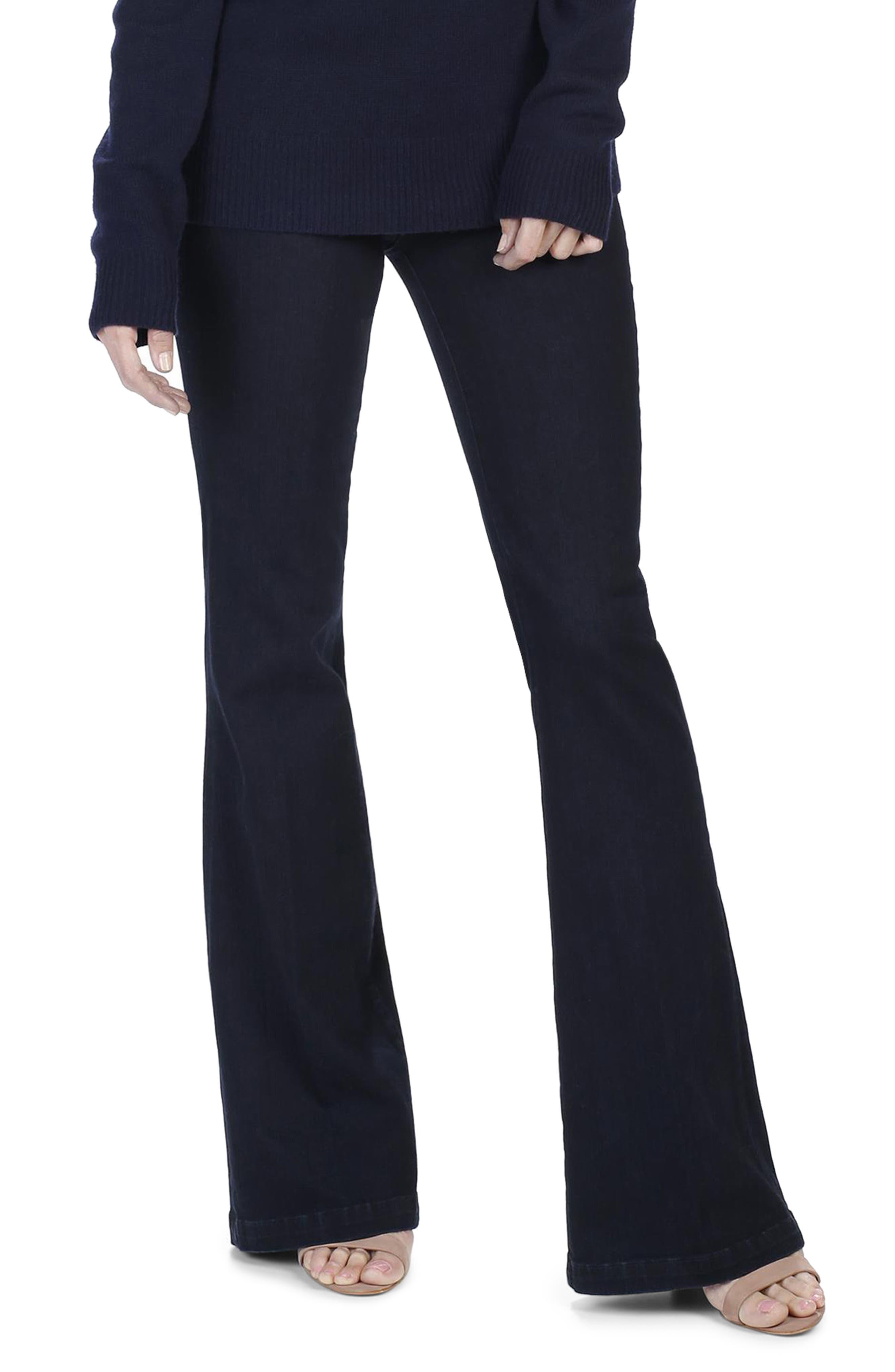 Main Image - PAIGE Legacy - Genevieve High Waist Flare Jeans (Adelina)