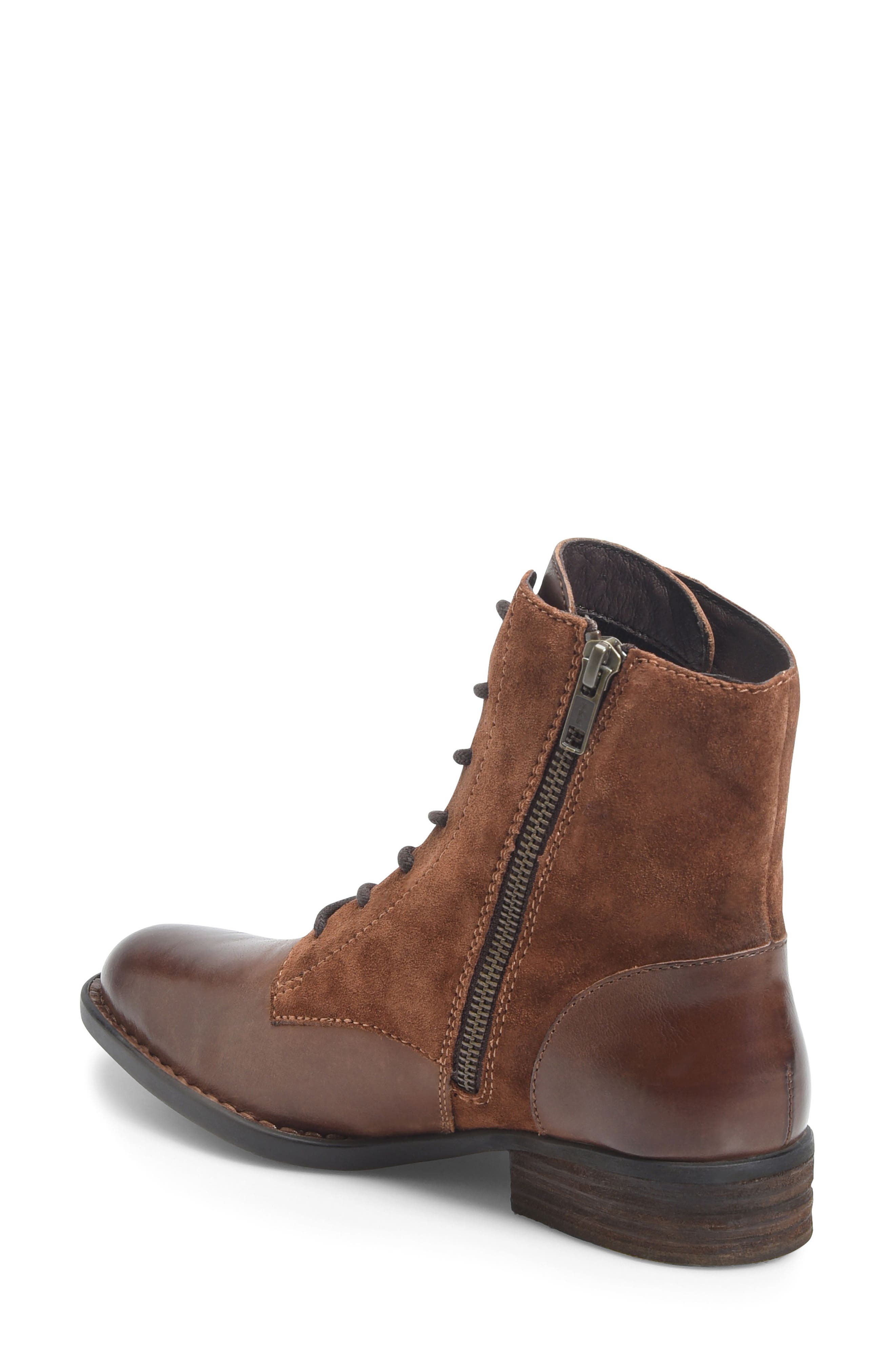 Clements Lace-Up Boot,                             Alternate thumbnail 2, color,                             Brown/ Rust Combo
