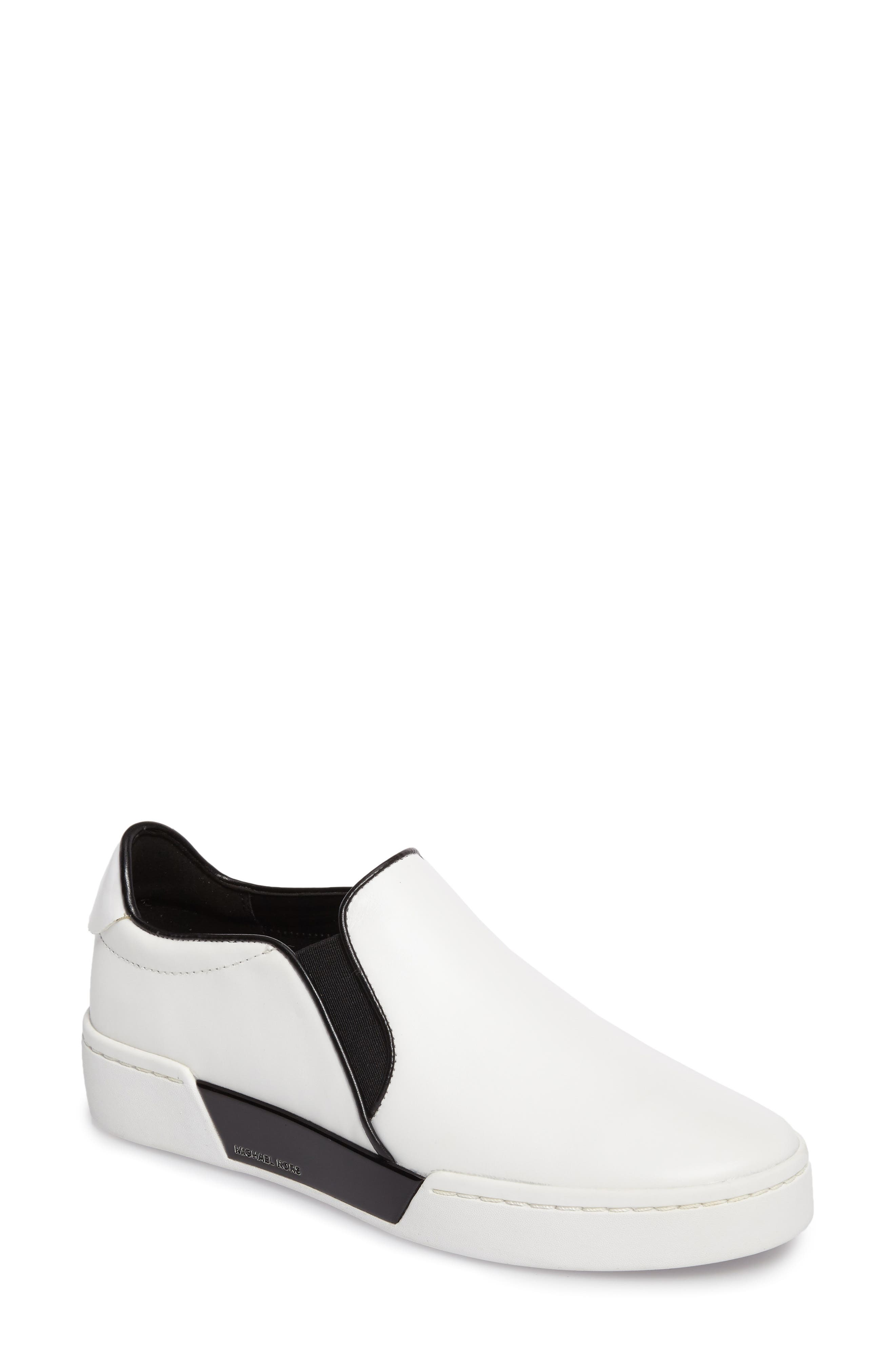 Brenden Slip-On,                             Main thumbnail 1, color,                             Optic White