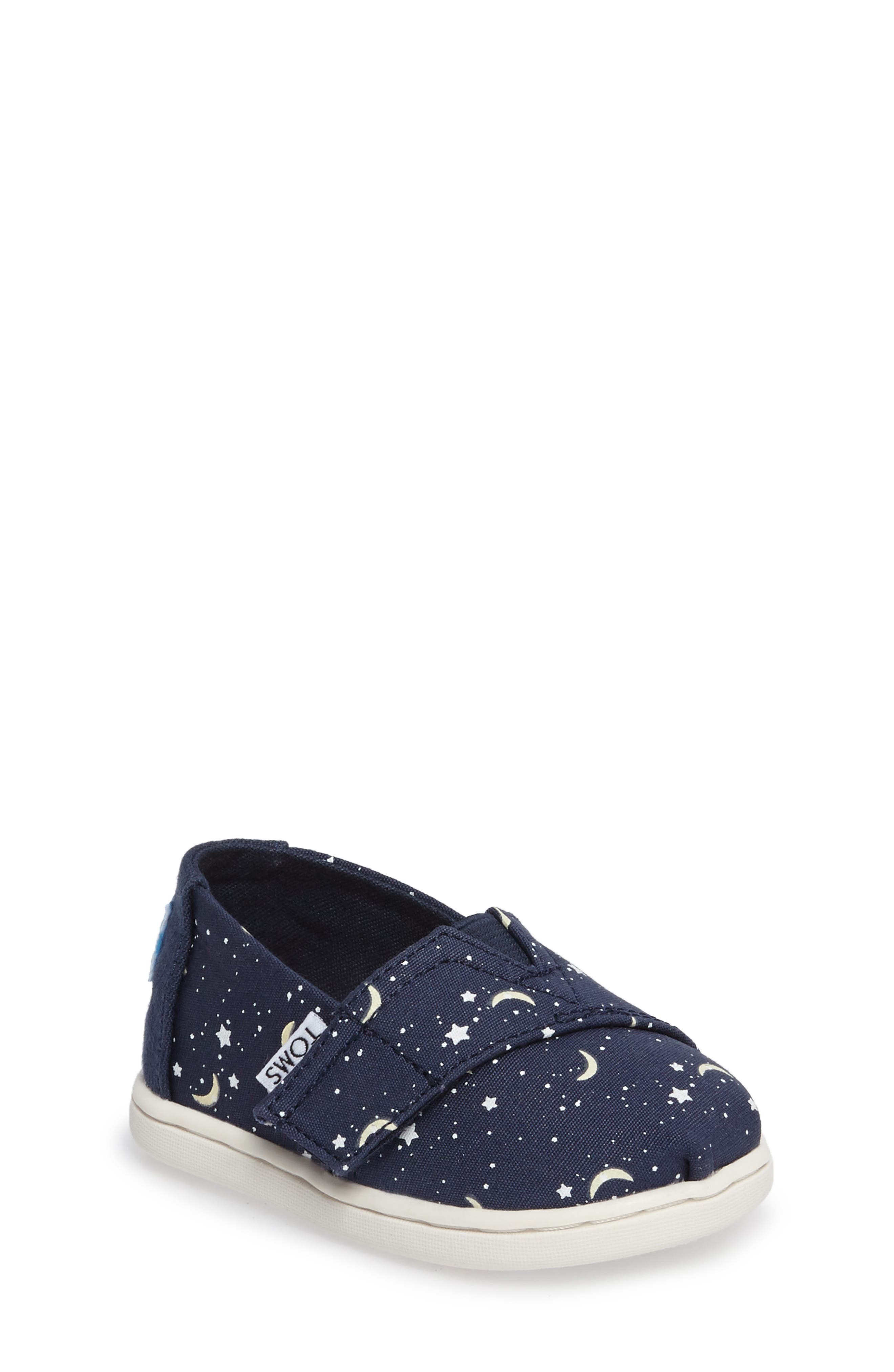 TOMS Alpargata Classic Print Slip-On (Baby, Walker & Toddler)