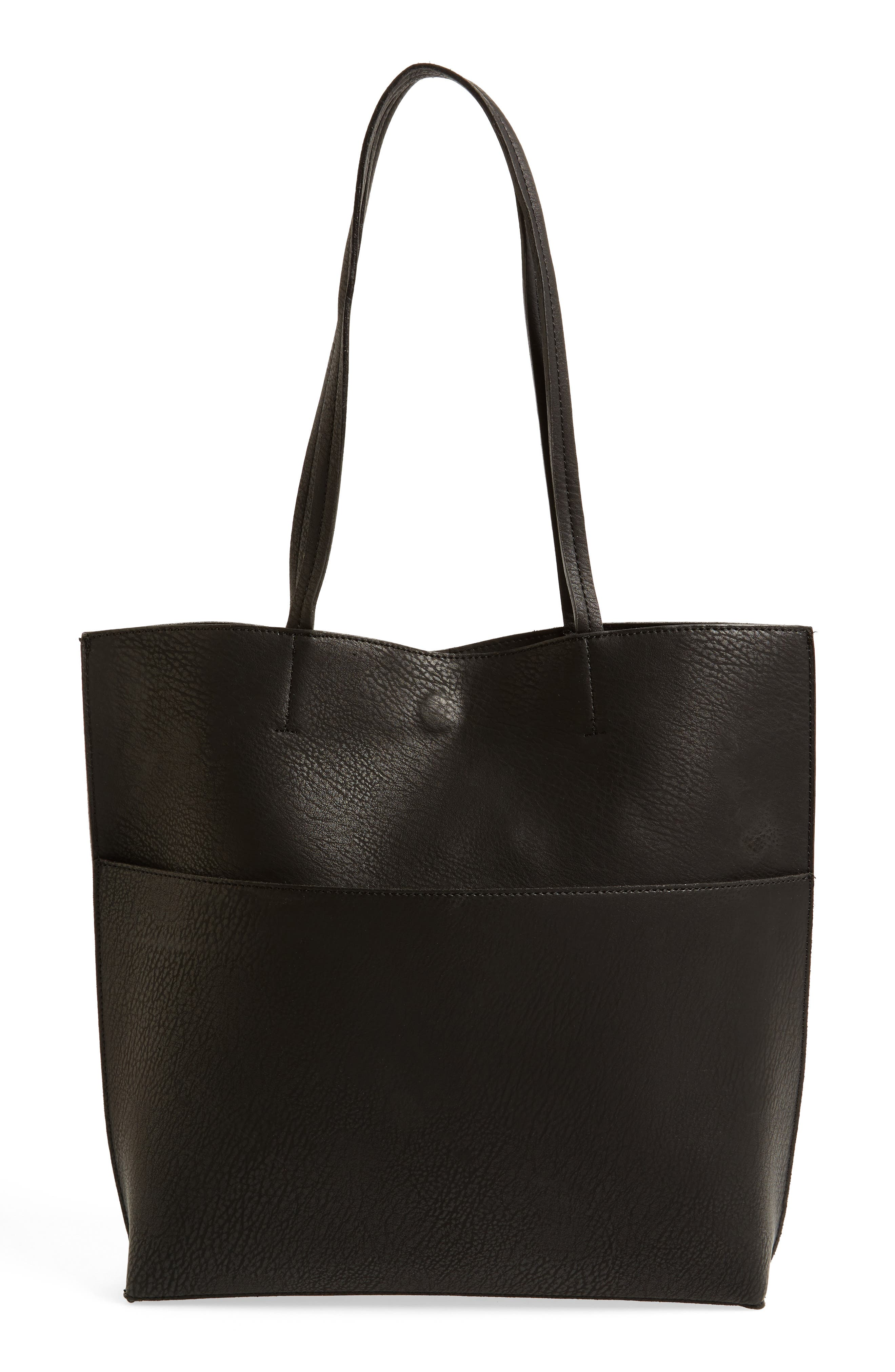 Alternate Image 1 Selected - Street Level Faux Leather Tote & Tassel Clutch