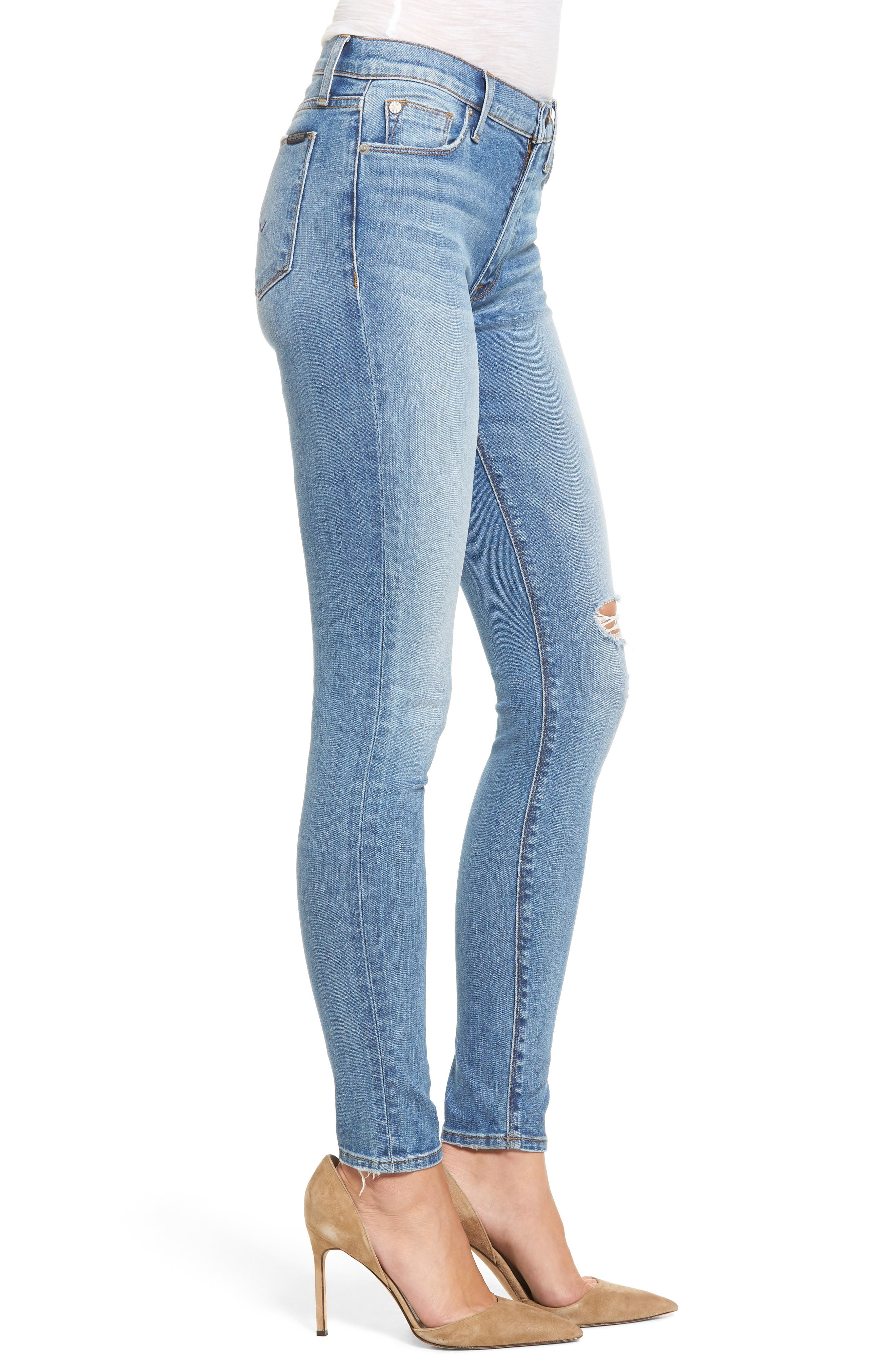 Barbara High Waist Super Skinny Jeans,                             Alternate thumbnail 3, color,                             Movement