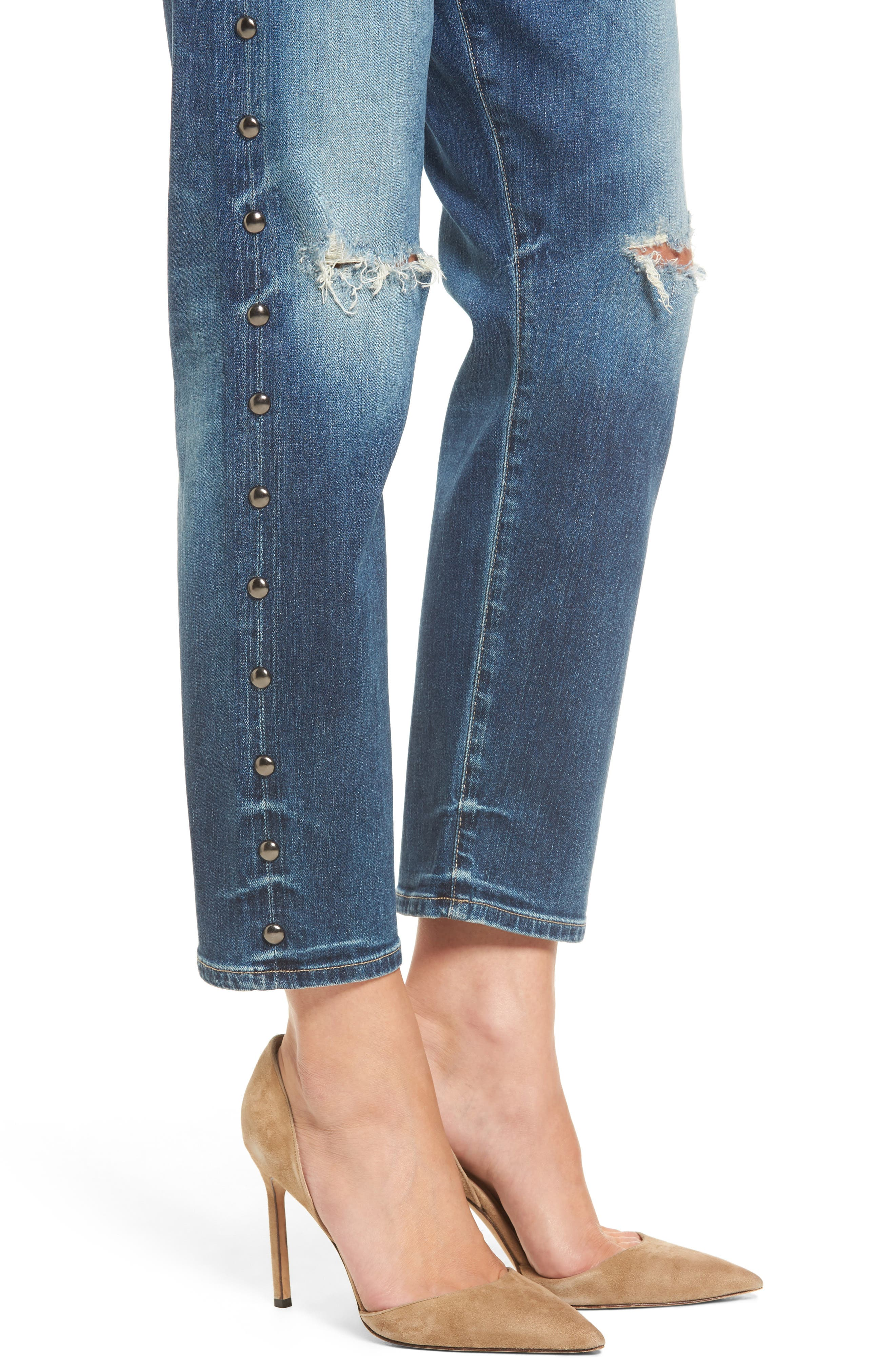 Alternate Image 4  - Citizens of Humanity Emerson Slim Boyfriend Jeans (Studded Stetson)