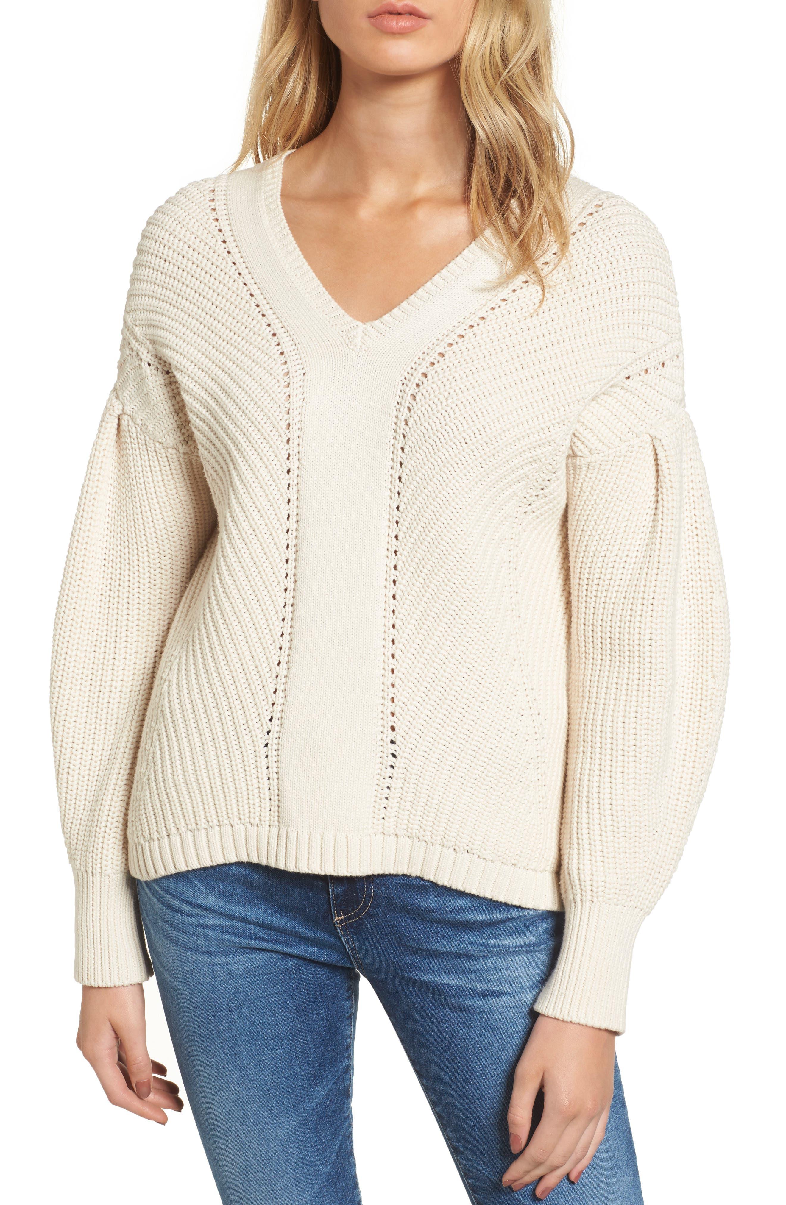 Millie Mozart Sweater,                             Main thumbnail 1, color,                             Classic Cream