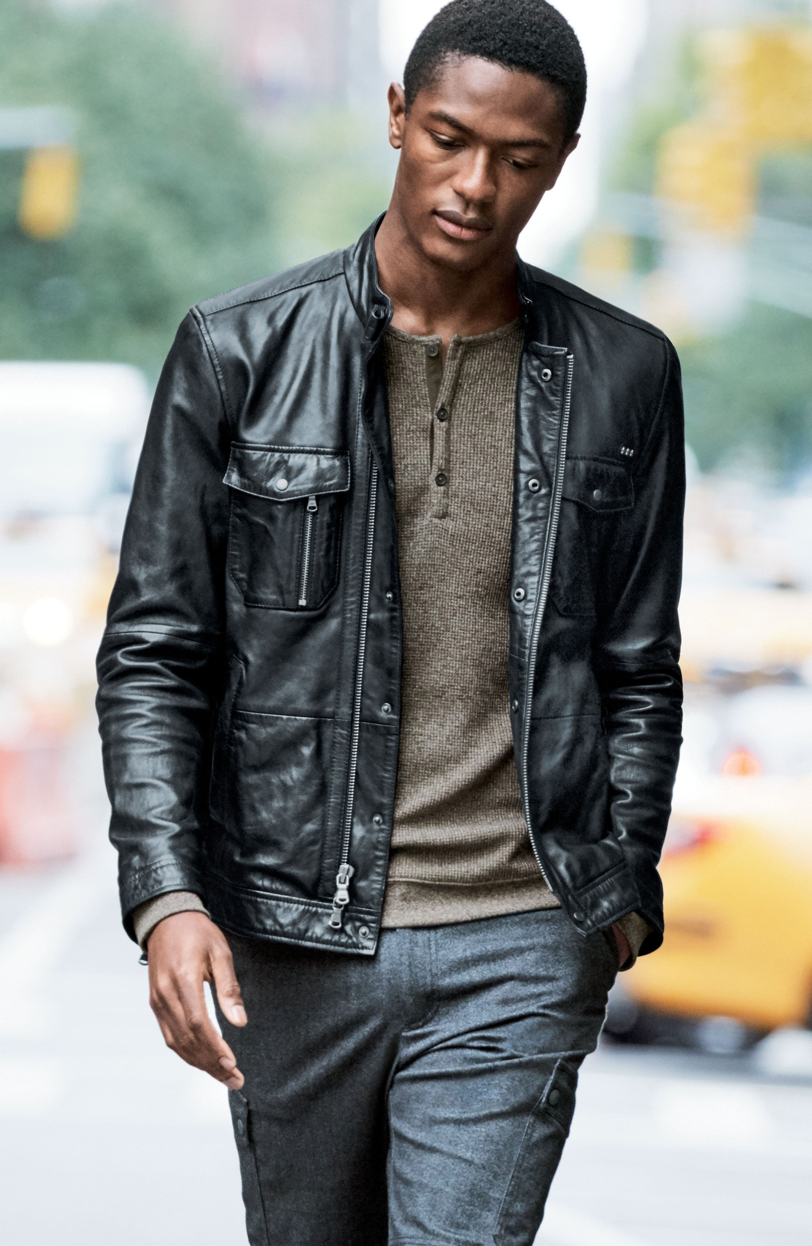 Alternate Image 7  - John Varvatos Star USA Woven Trim Henley