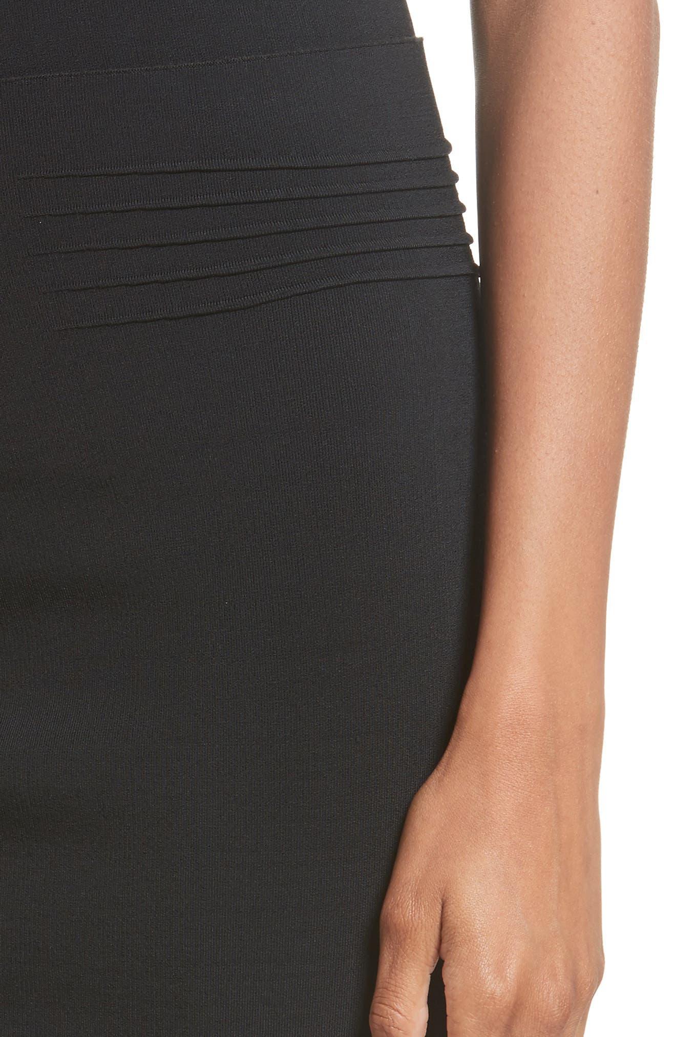 Knit Pencil Skirt,                             Alternate thumbnail 4, color,                             Black