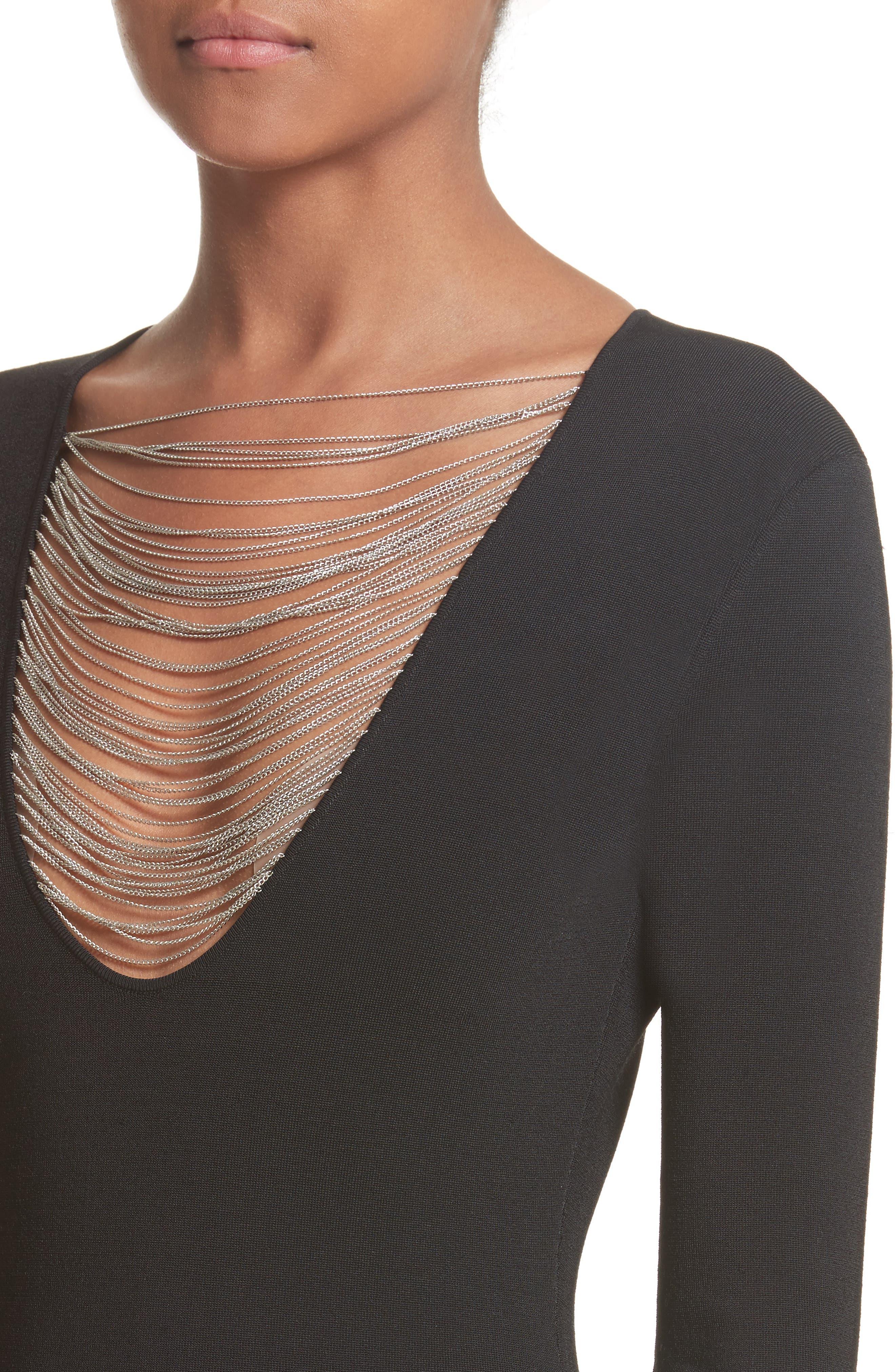 Alternate Image 4  - Alexander Wang Necklace Chain Dress