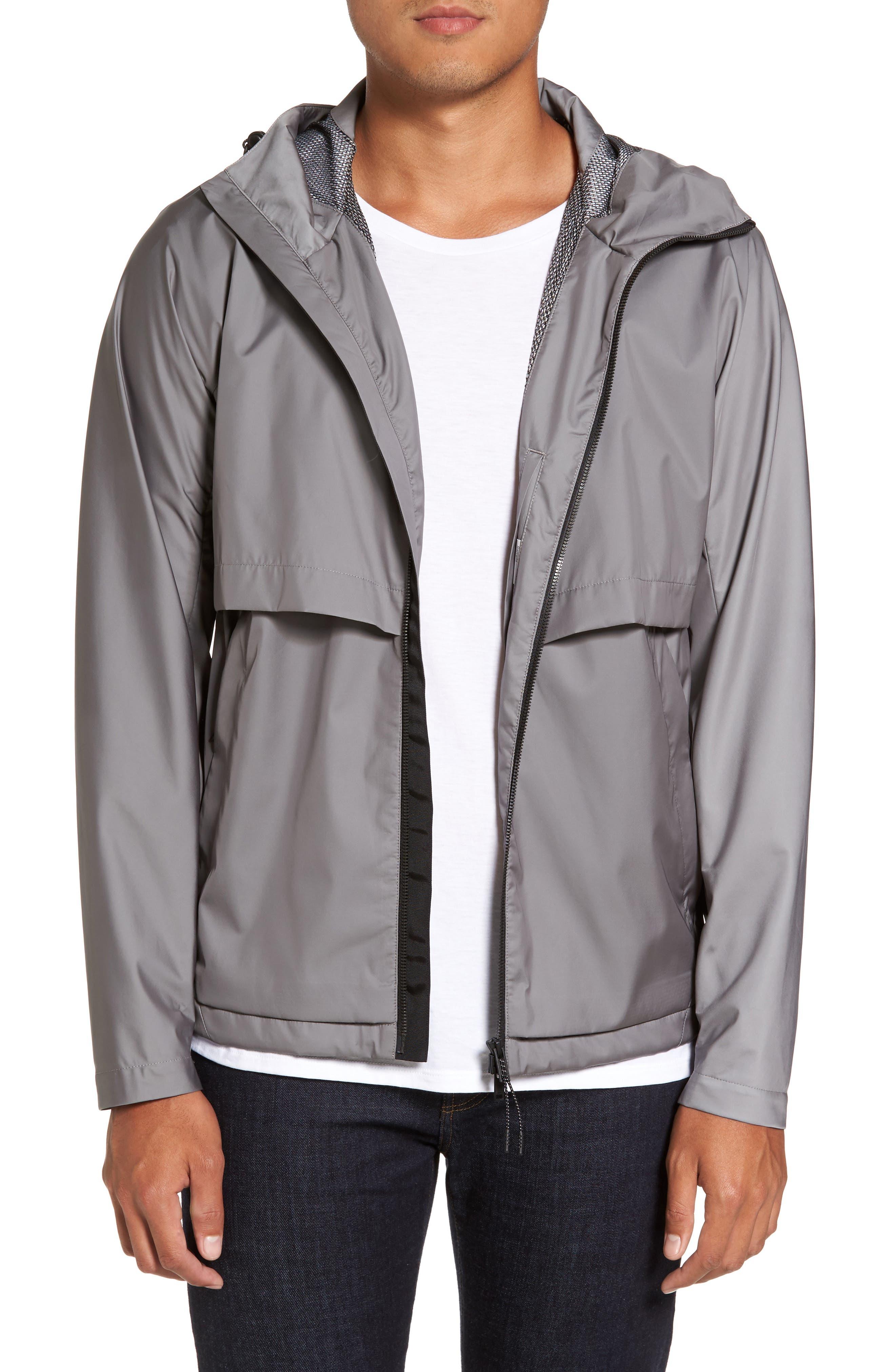 Driftbreak Trim Fit Tech Jacket,                             Main thumbnail 1, color,                             Grey