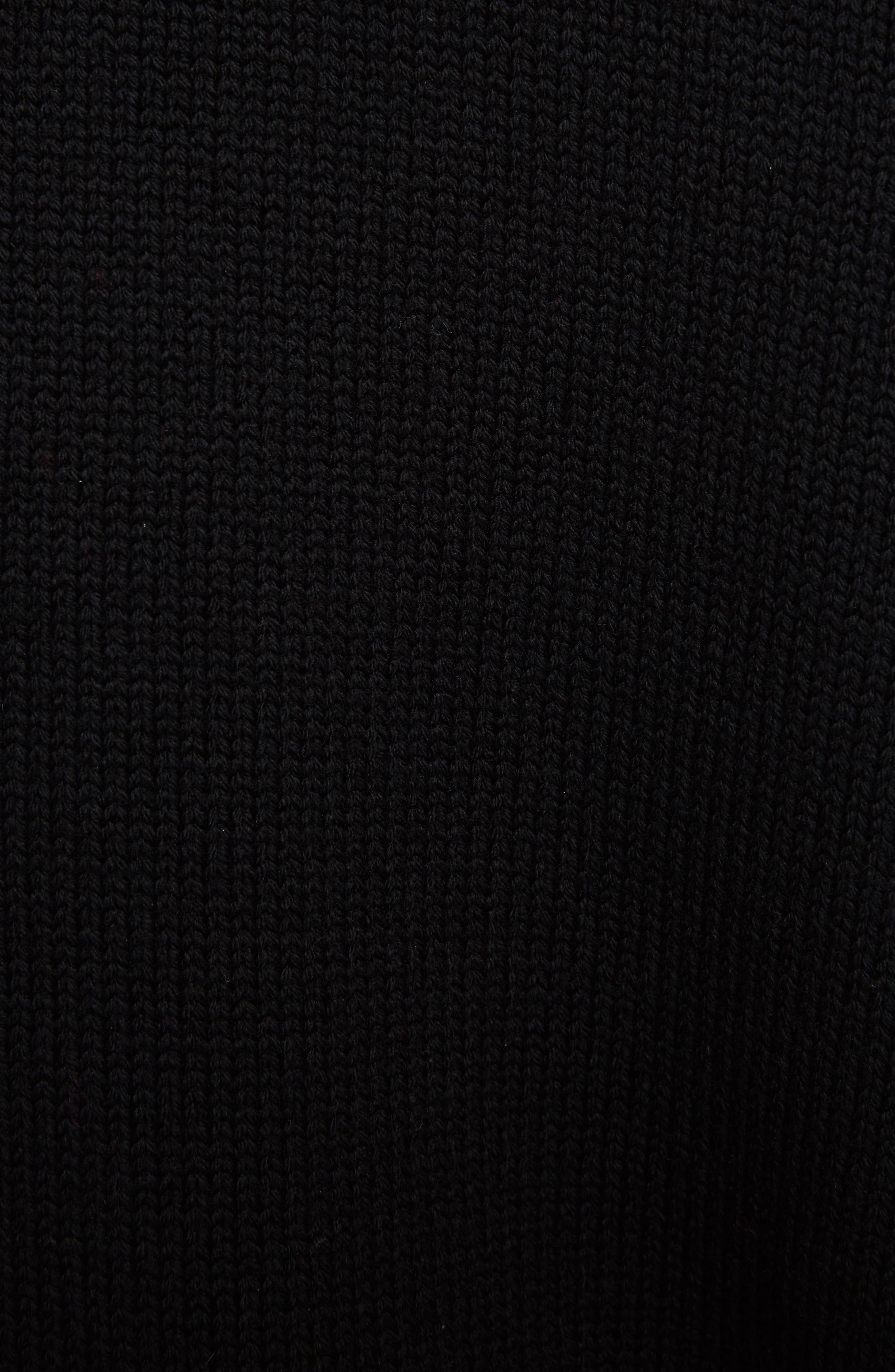 Star Cutout Wool Sweater,                             Alternate thumbnail 5, color,                             Black