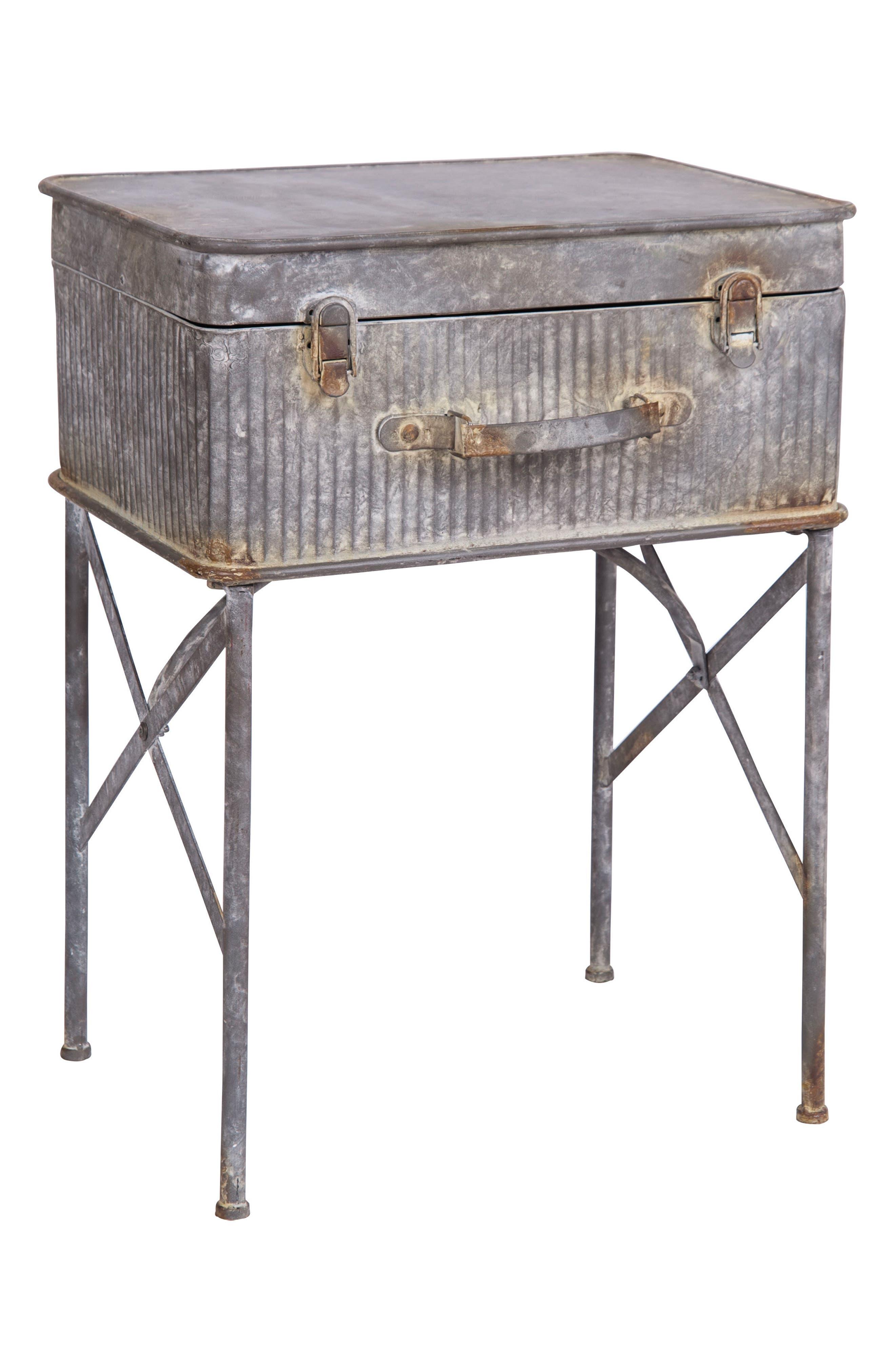 Devon Suitcase Side Table,                             Main thumbnail 1, color,                             Metal